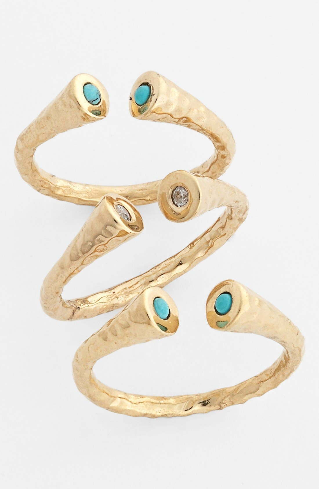 Alternate Image 1 Selected - Melinda Maria 'Nailhead - Penny' Stackable Rings (Set of 3) (Nordstrom Exclusive)
