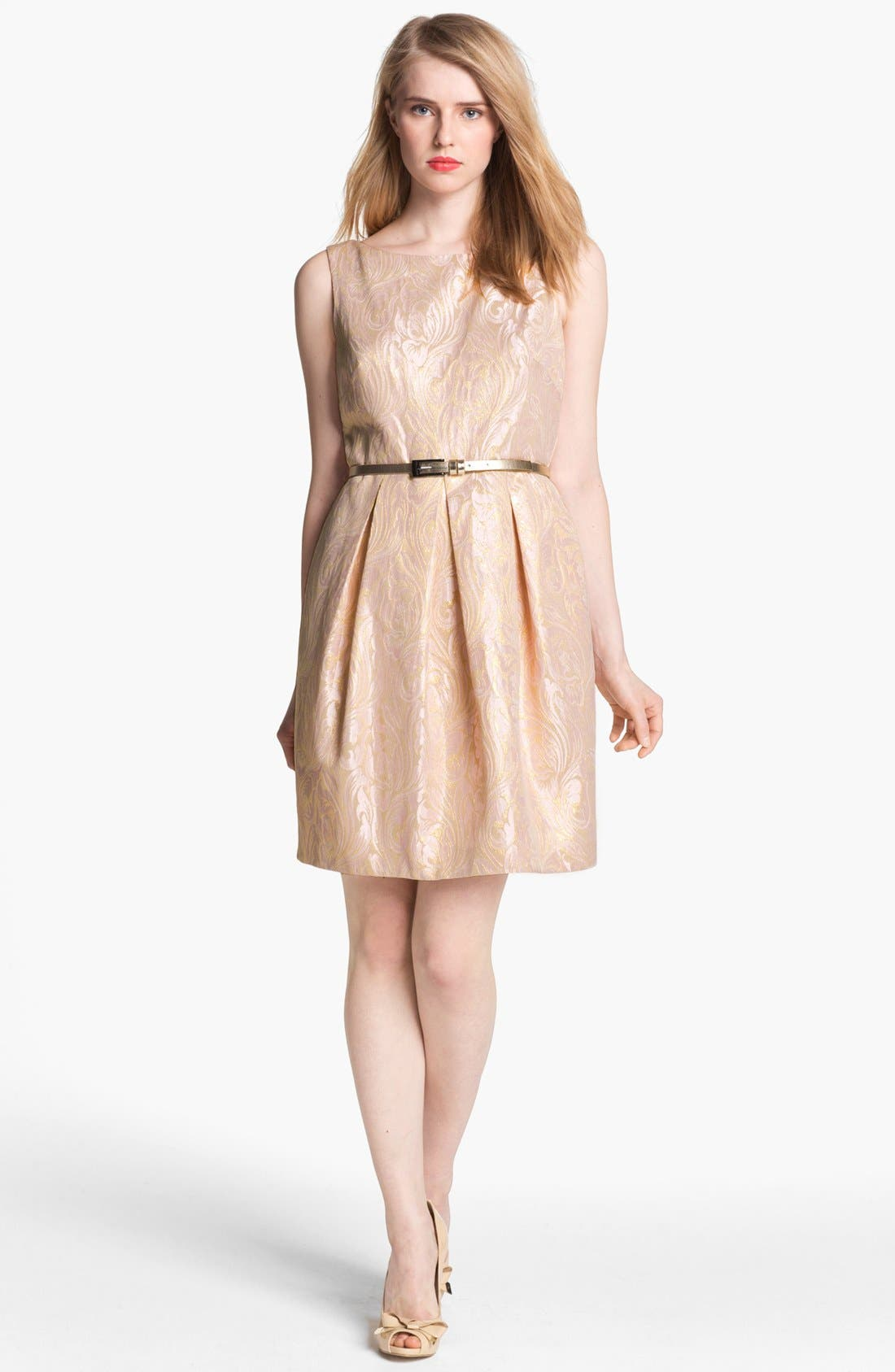 Alternate Image 1 Selected - Eliza J Sleeveless Brocade Fit & Flare Dress