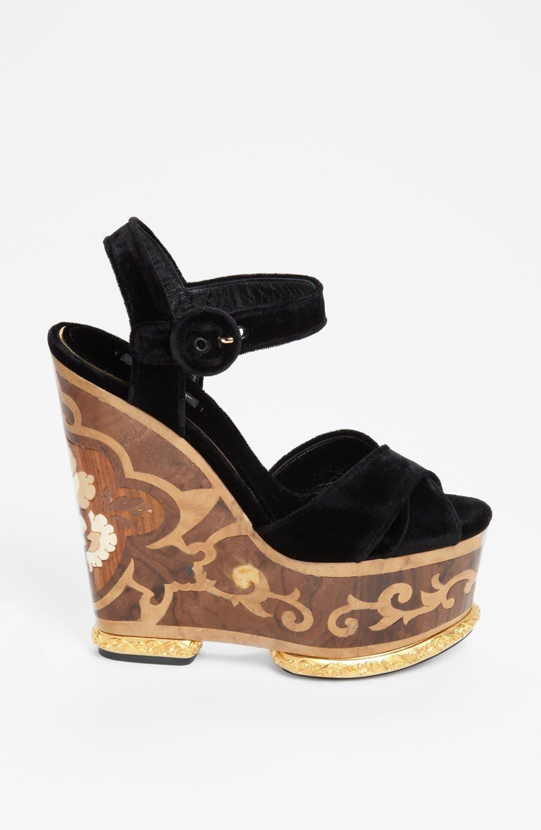 Alternate Image 4  - Dolce&Gabbana Wedge Sandal