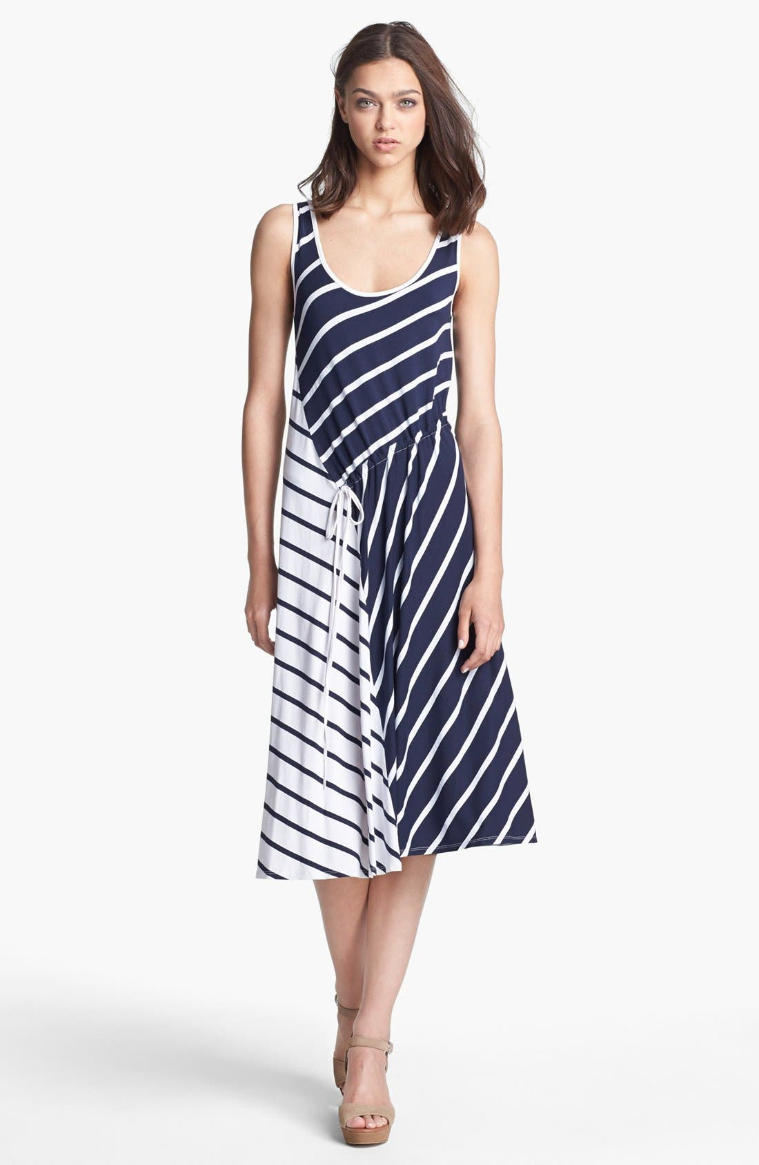 Alternate Image 1 Selected - Three Dots Stripe Tank Midi Dress
