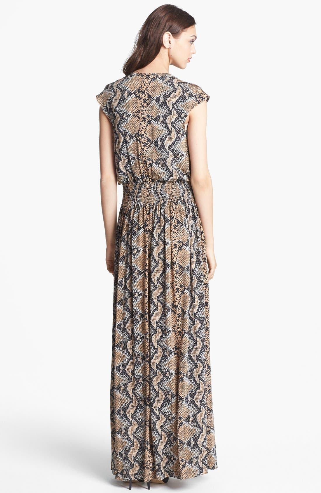 Alternate Image 2  - Tracy Reese Python Print Jersey Maxi Dress