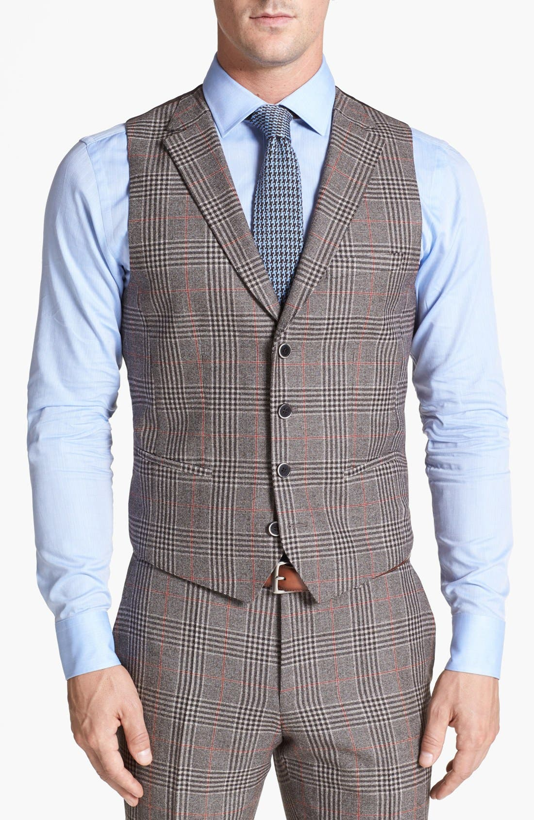 Alternate Image 6  - BOSS HUGO BOSS 'Dunham/Knight' Trim Fit Three Piece Suit (Online Only)