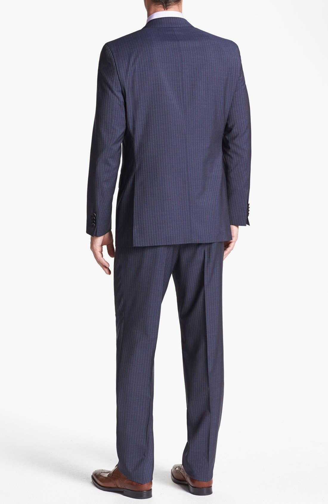 Alternate Image 3  - BOSS HUGO BOSS 'Edison/Power' Classic Fit Stripe Suit