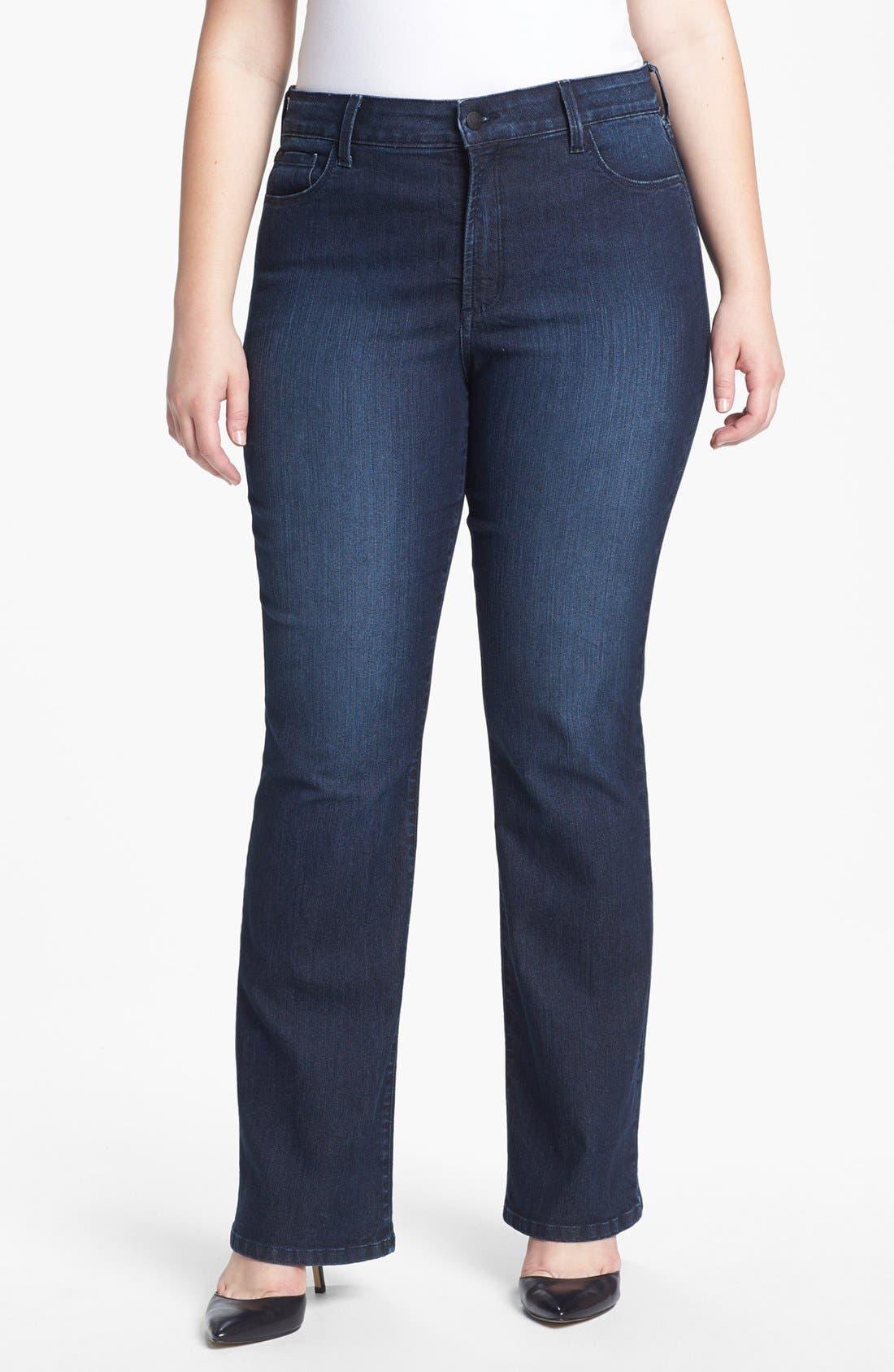 Alternate Image 1 Selected - NYDJ 'Barbara' Bootcut Jeans (Dana Point) (Plus Size)