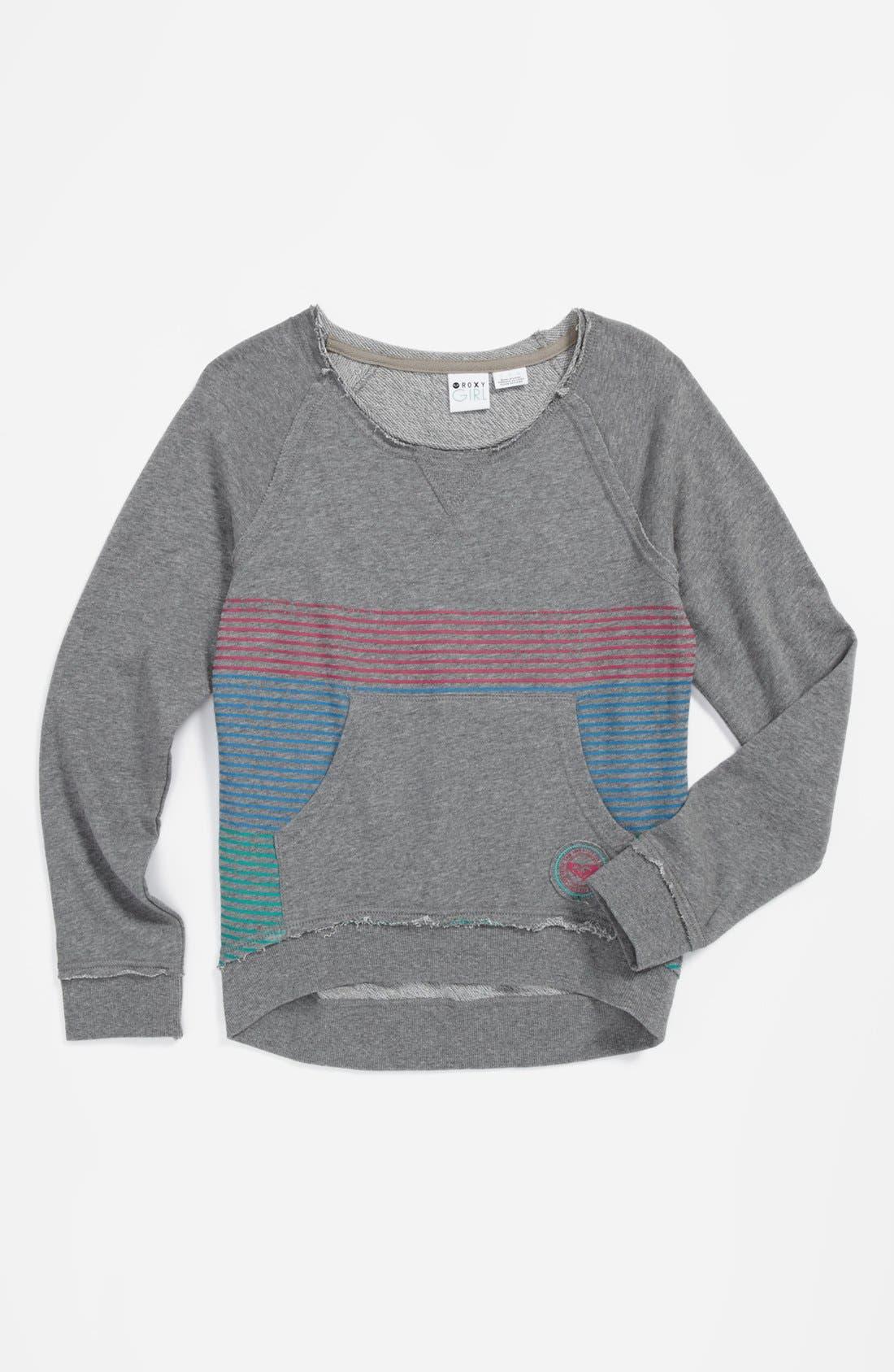 Alternate Image 1 Selected - 'Flicker' Sweatshirt (Big Girls)