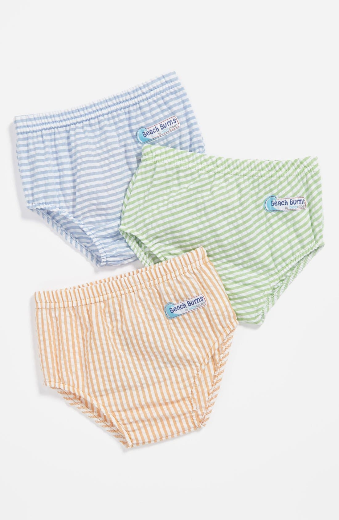Alternate Image 2  - Baby Aspen 'Beach Bums' Diaper Covers (3-Pack) (Baby)