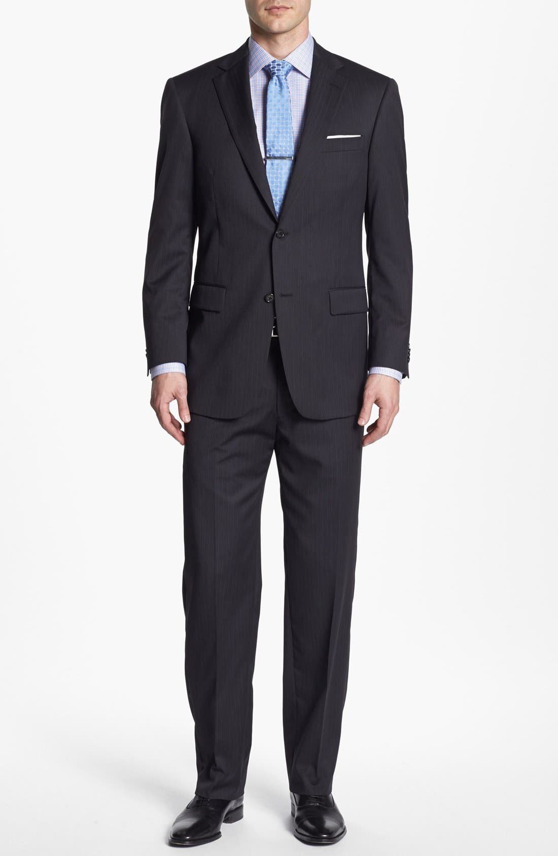 Main Image - Hart Schaffner Marx Stripe Wool Suit