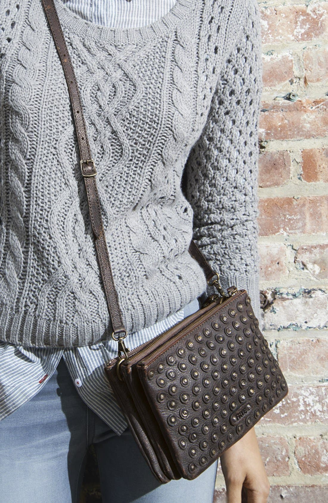 Alternate Image 5  - Frye 'Jenna' Crossbody Bag, Small
