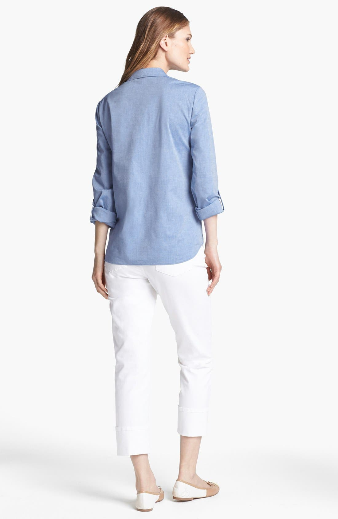 Alternate Image 2  - Lafayette 148 New York Oxford Shirt
