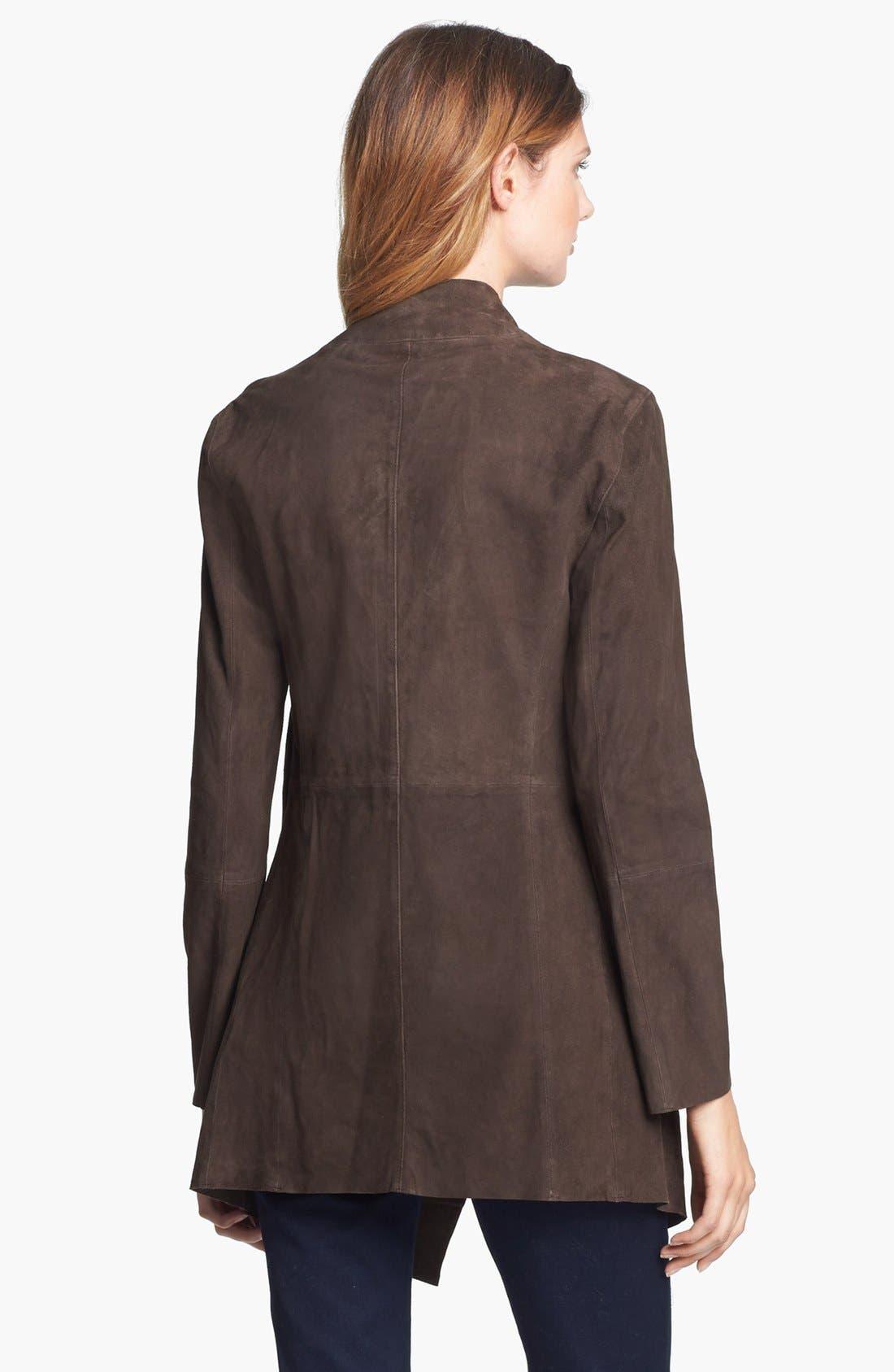 Alternate Image 2  - MICHAEL Michael Kors Drape Front Suede Jacket