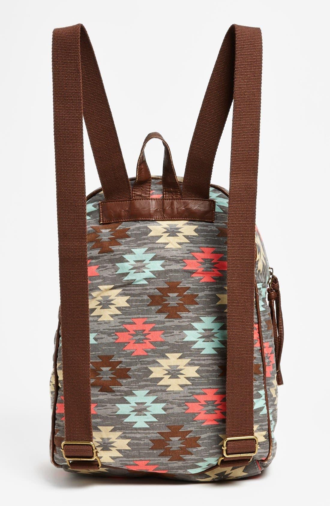 Alternate Image 4  - Lulu Print Canvas Backpack