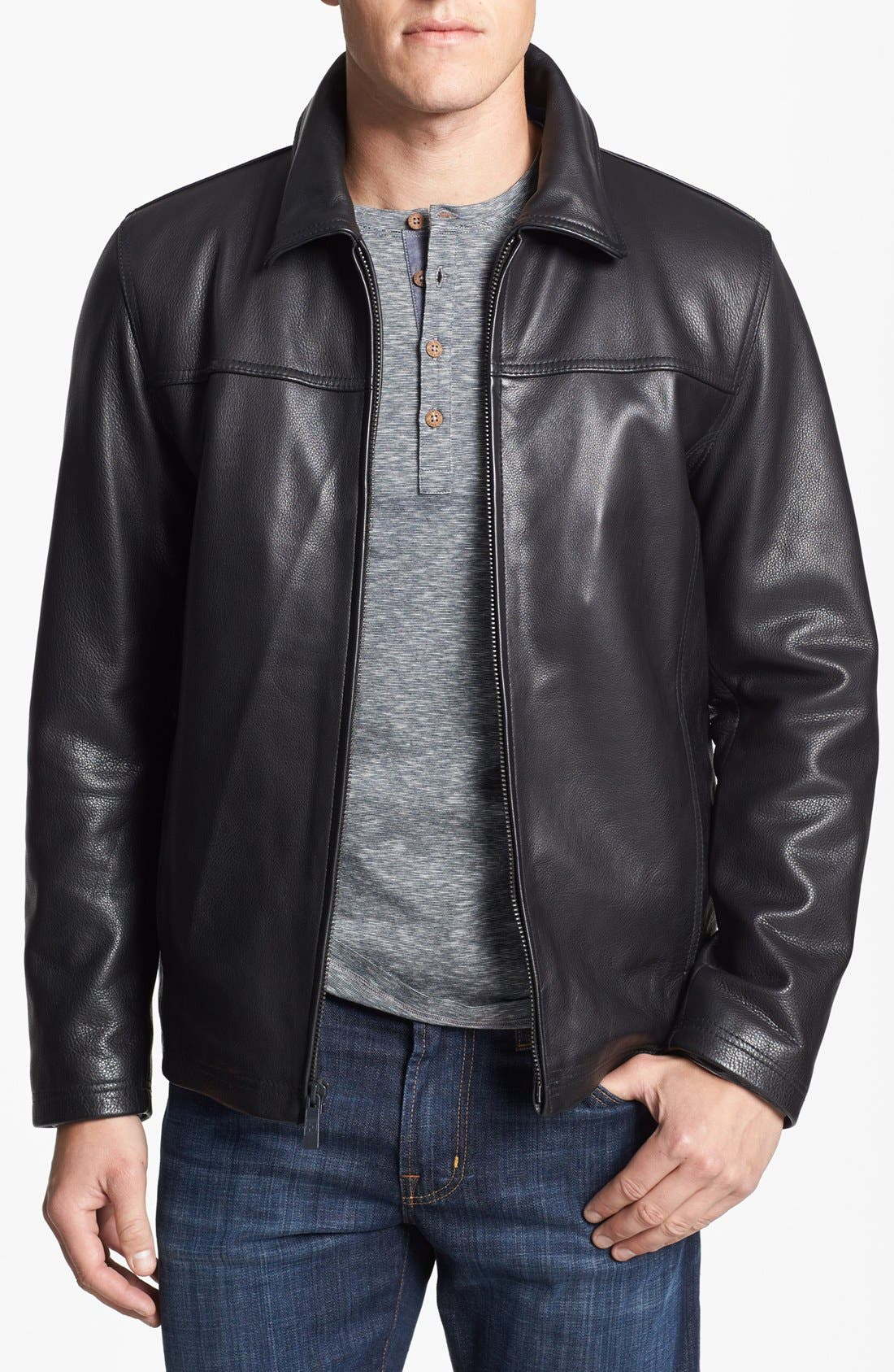 Alternate Image 1 Selected - Vince Camuto Leather Jacket