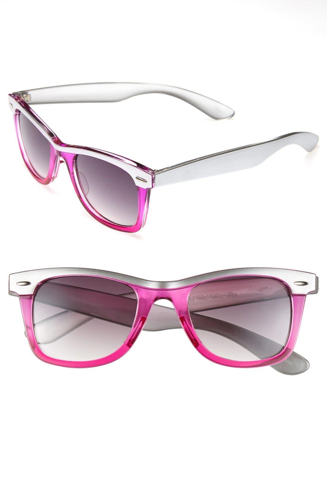 Alternate Image 1 Selected - Icon Eyewear Retro Sunglasses (Girls)