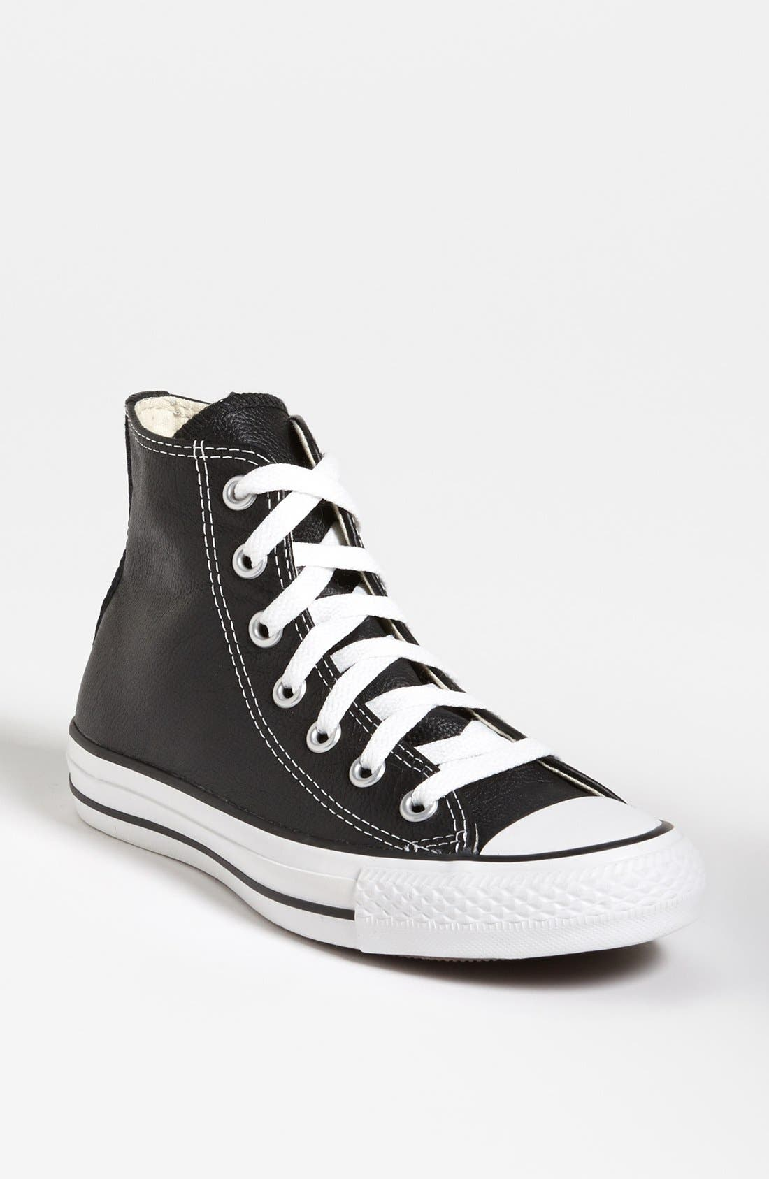Alternate Image 1 Selected - Converse Chuck Taylor® All-Star® Leather High Top Sneaker (Women)