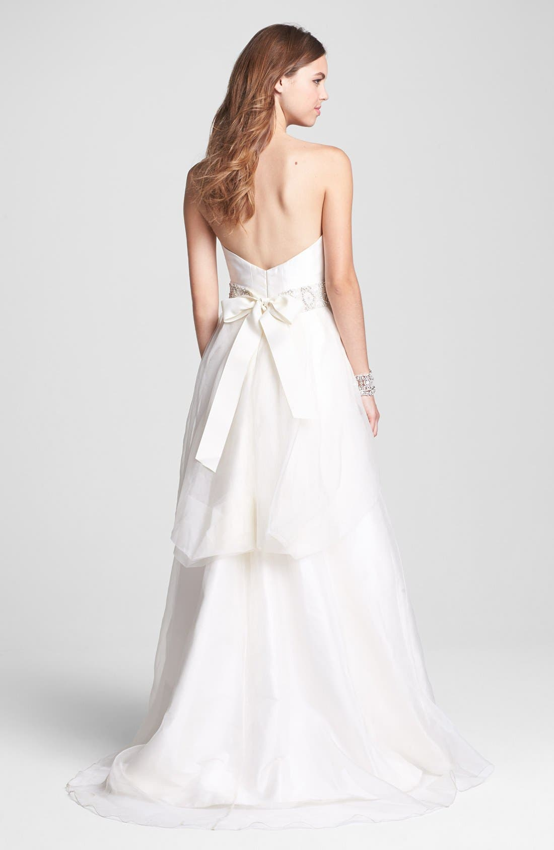 Alternate Image 2  - Heidi Elnora Sweetheart Neckline Dress & Accessories