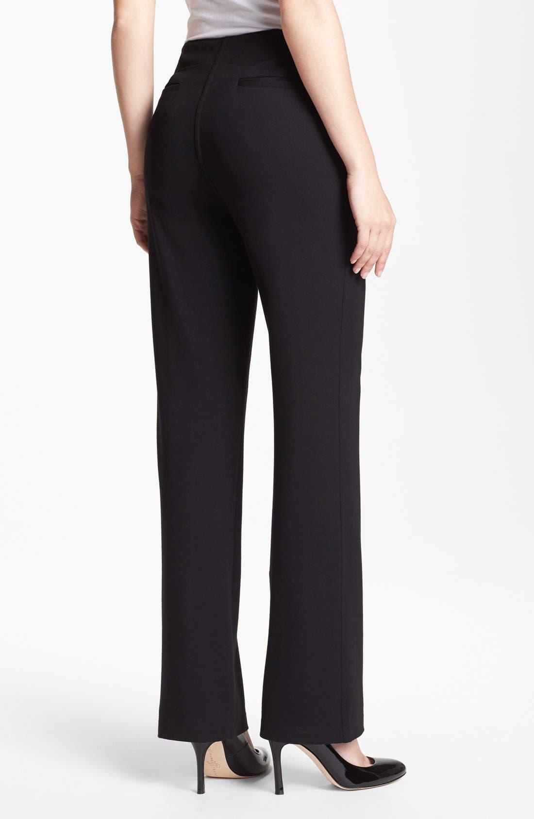 Alternate Image 2  - Eileen Fisher Straight Leg Milano Knit Trousers