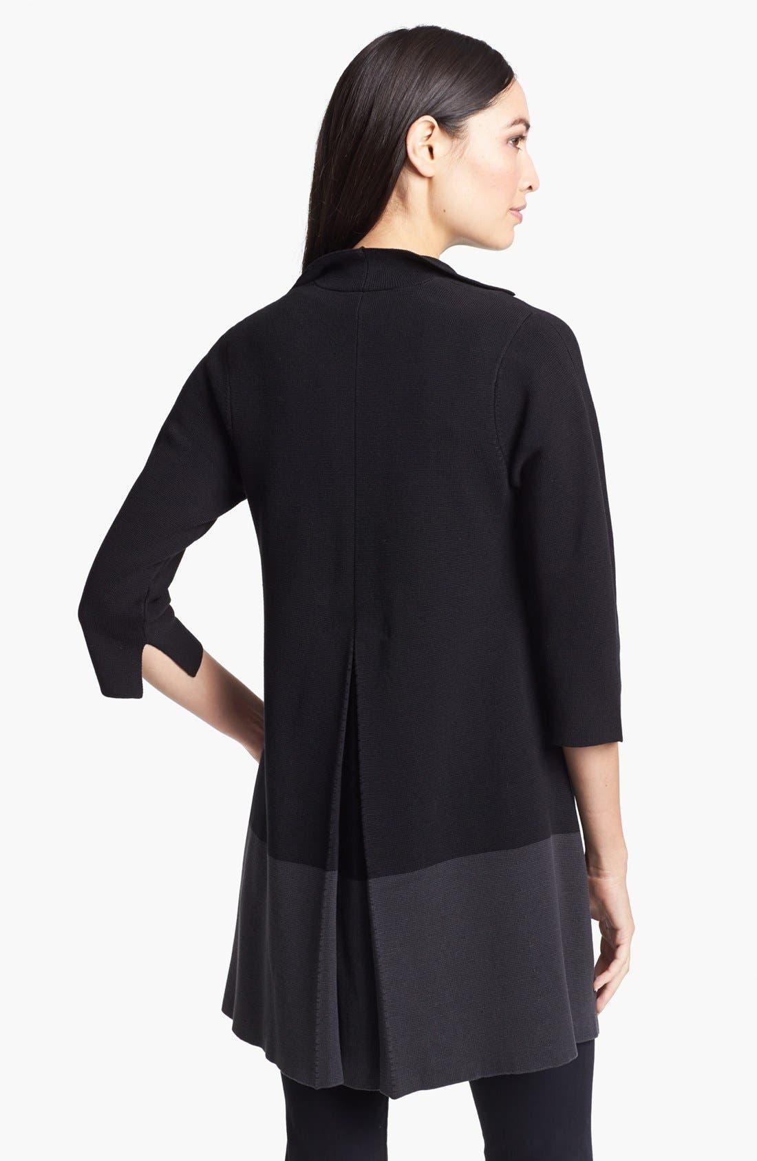 Alternate Image 2  - Eileen Fisher Colorblock Silk & Cotton Jacket