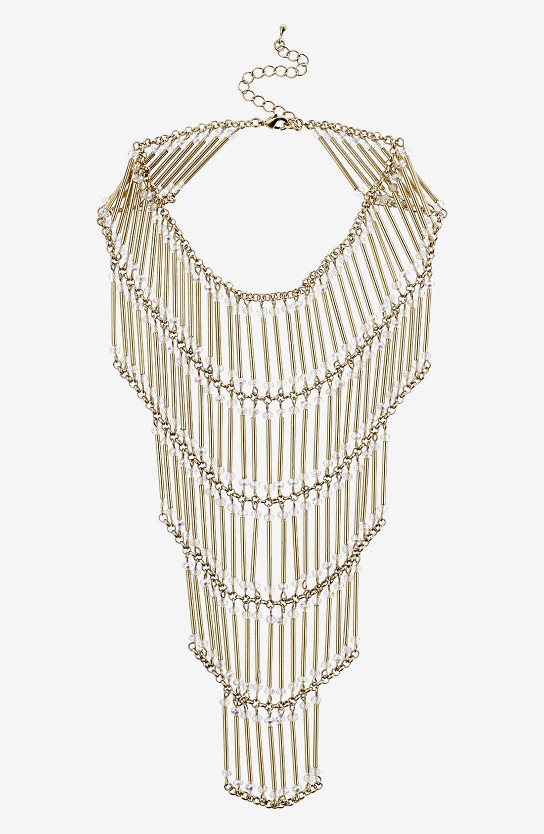 Main Image - Topshop Tiered Beaded Necklace
