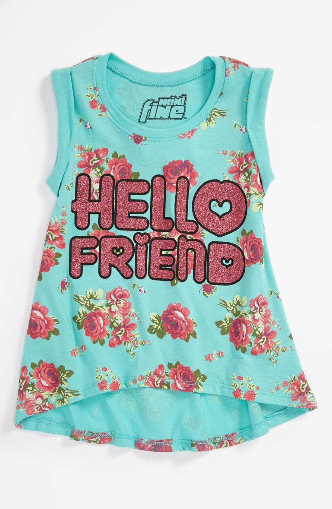 Alternate Image 1 Selected - Mighty Fine 'Hello Friend' Tank Top (Little Girls)