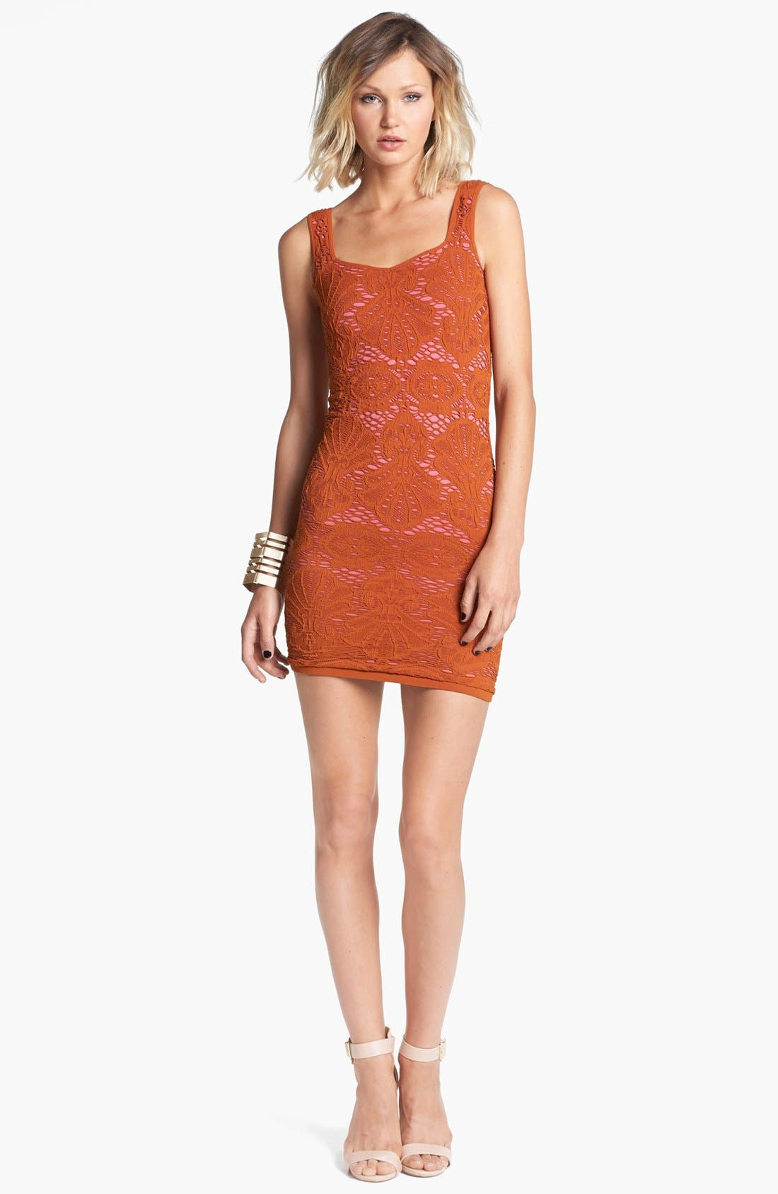 Main Image - Free People Stretch Lace Tank Dress