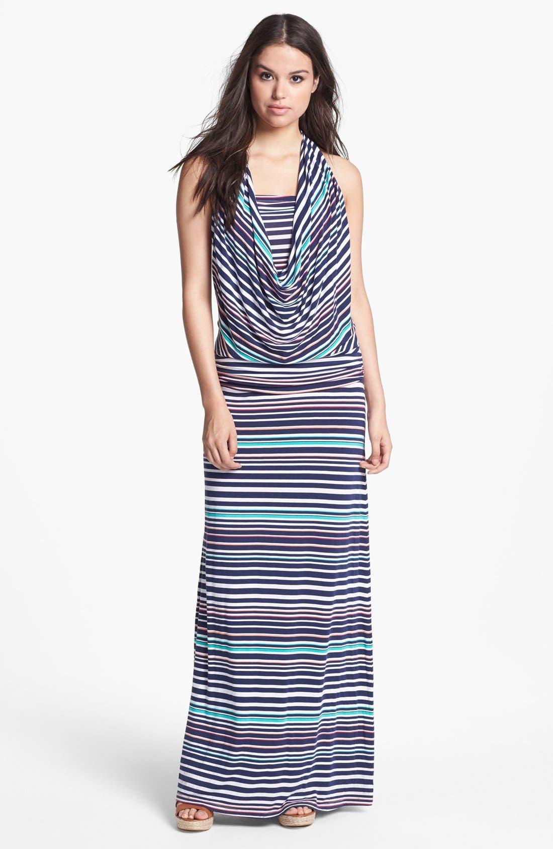 Main Image - Tart 'Mae' Convertible Stripe Jersey Maxi Dress