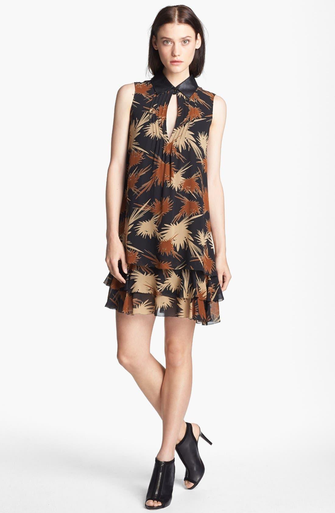 Main Image - Rachel Zoe 'Waverly' Print Crepe Trapeze Dress
