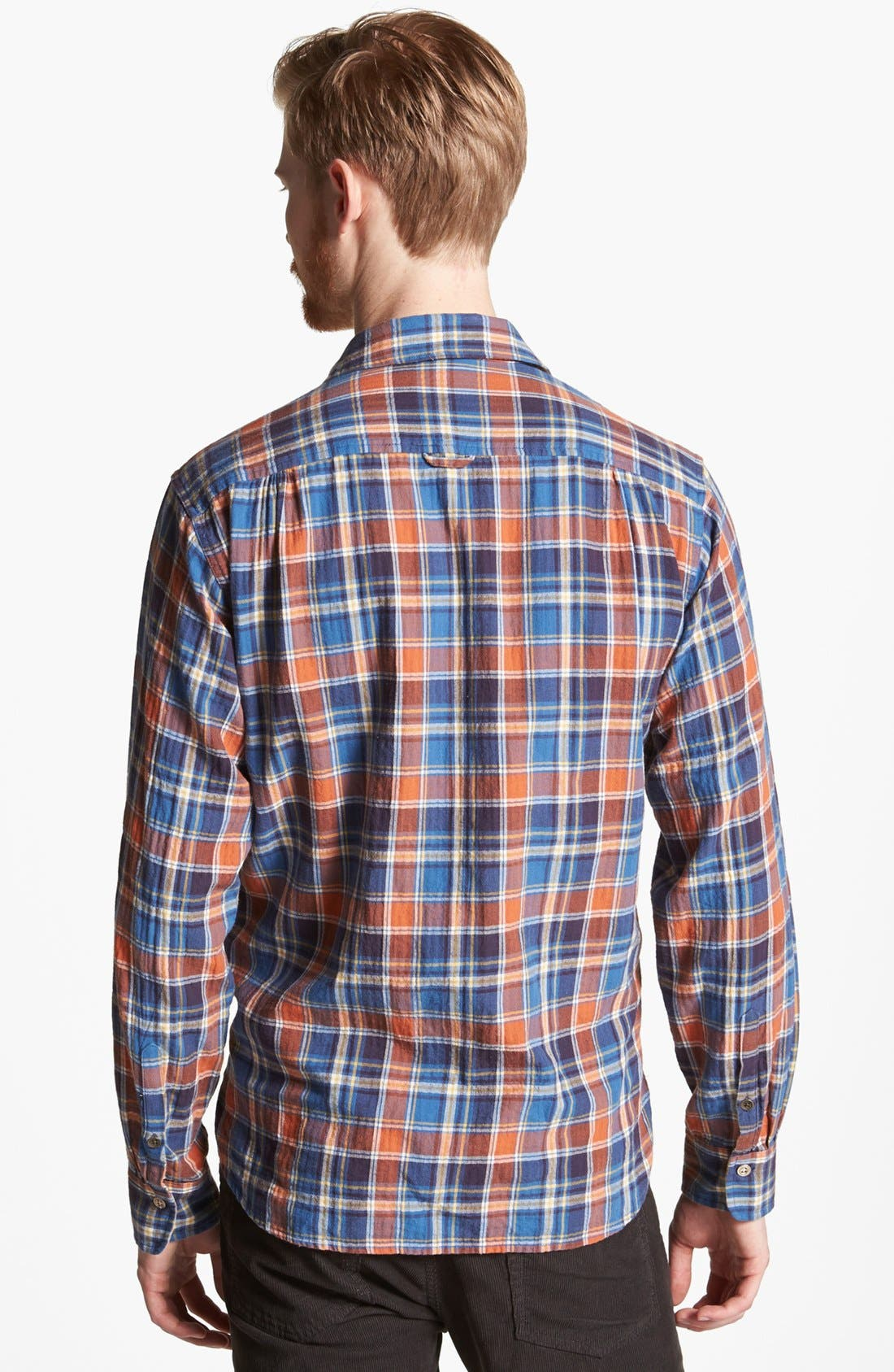 Alternate Image 2  - rag & bone 'Beach' Herringbone Plaid Woven Shirt