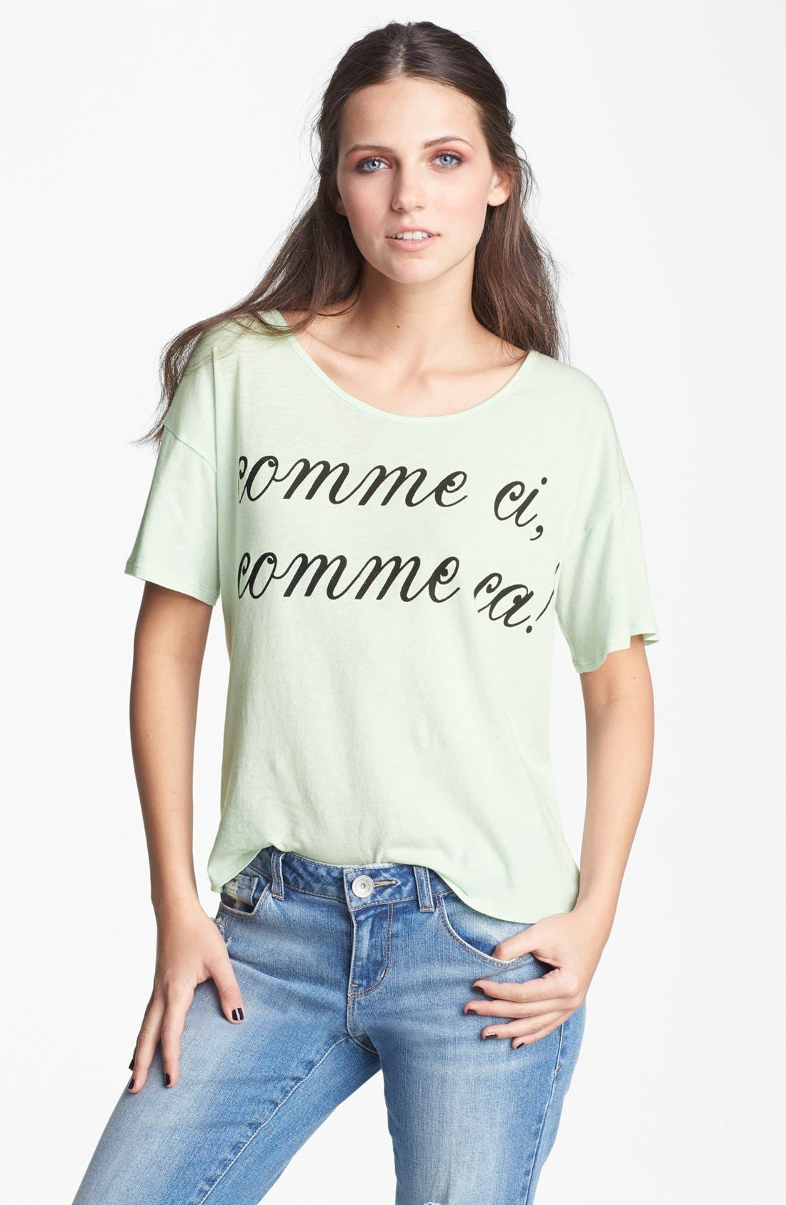 Alternate Image 1 Selected - Ten Sixty Sherman 'Comme Ci Comme Ca' Tee (Juniors)