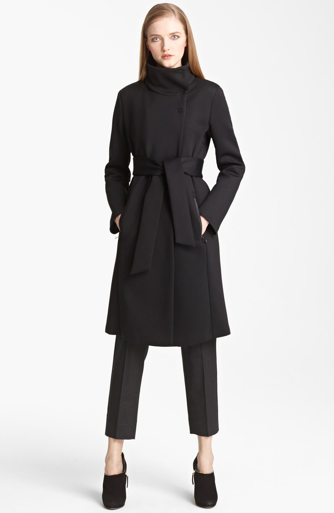 Main Image - Armani Collezioni Water Repellent Neoprene Coat