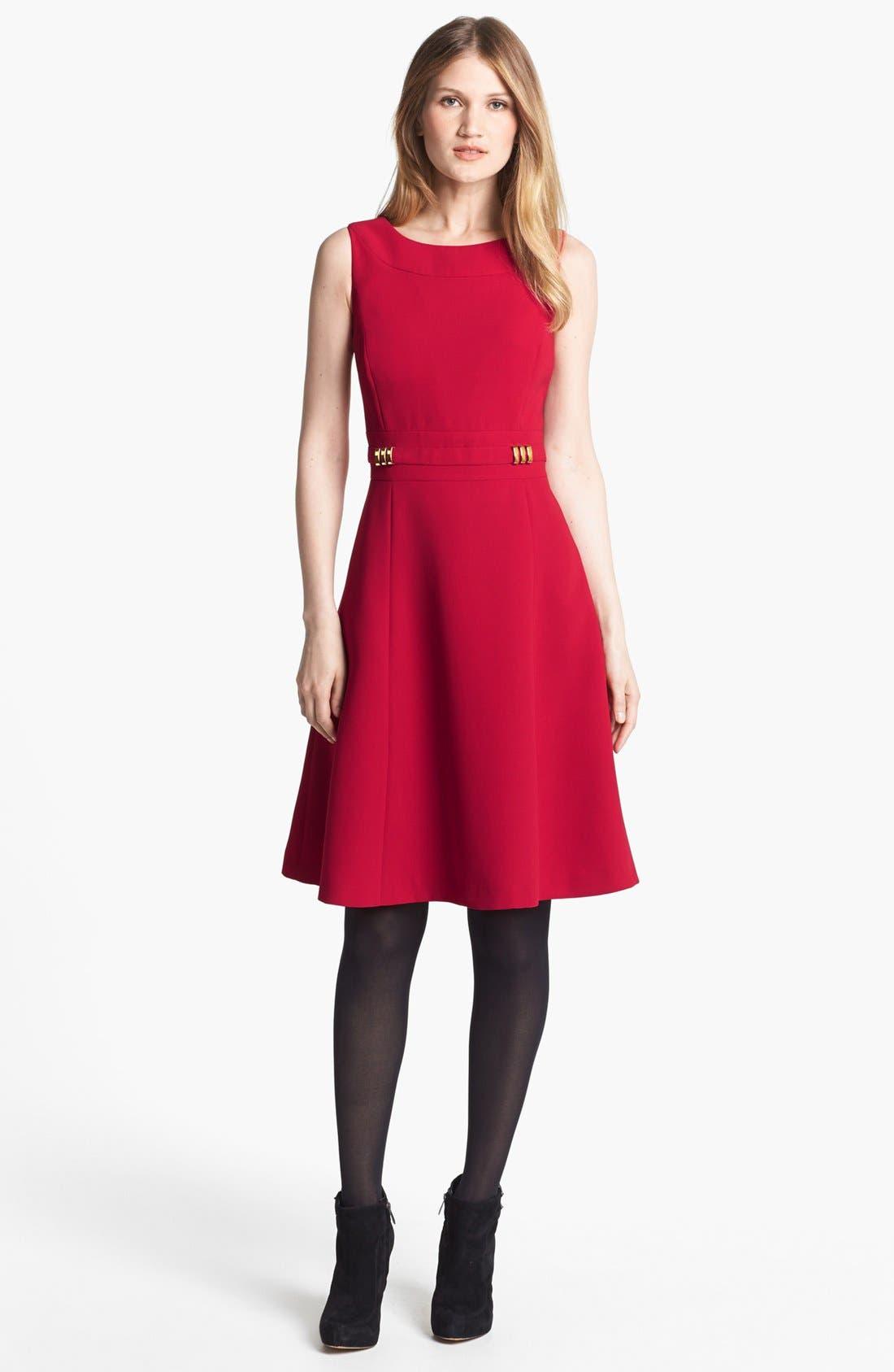 Alternate Image 1 Selected - Tahari Fit & Flare Dress  (Regular & Petite) (Regular Sizes Online Only)