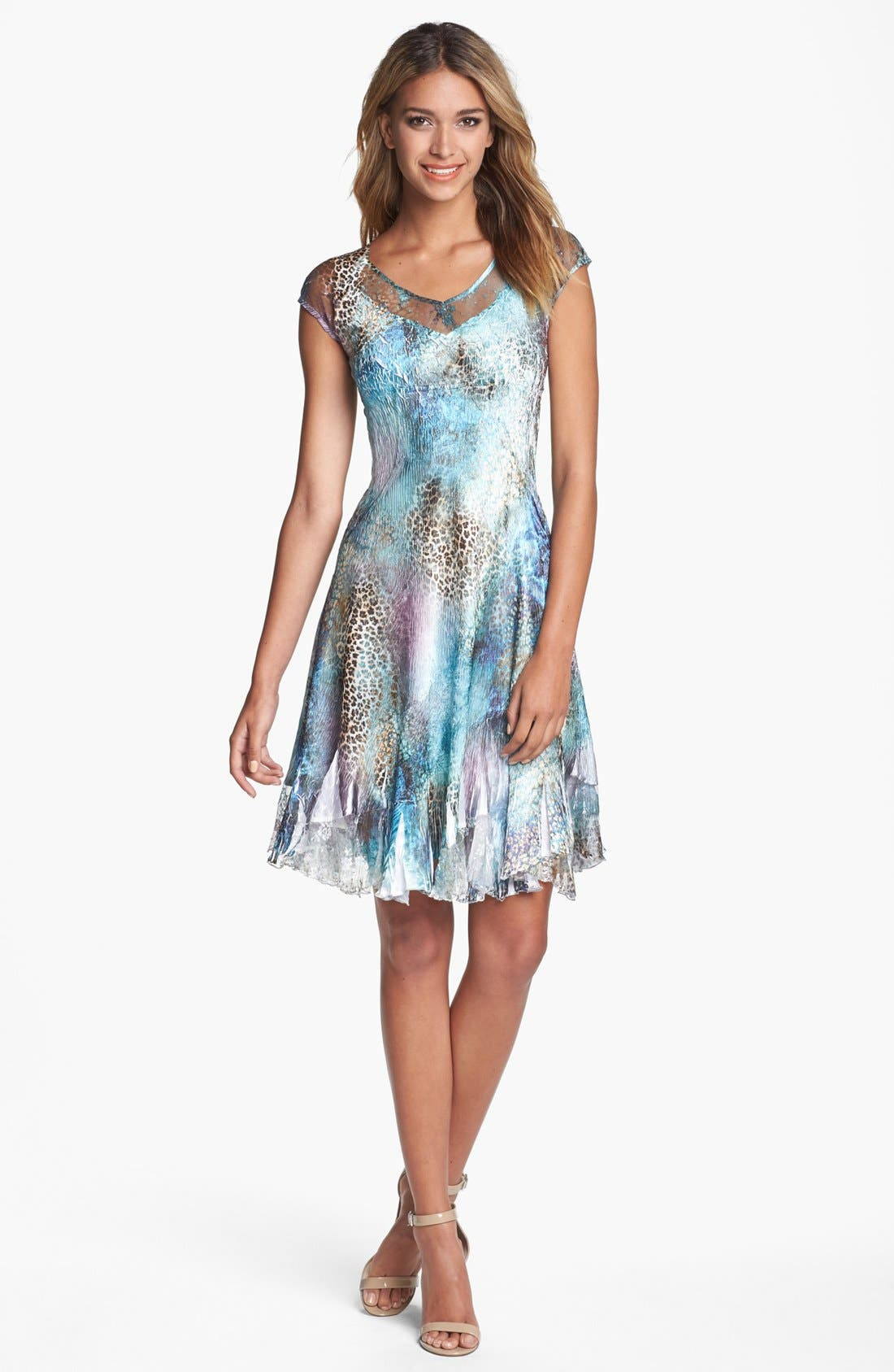 Alternate Image 1 Selected - Komarov Mixed Print Chiffon Dress
