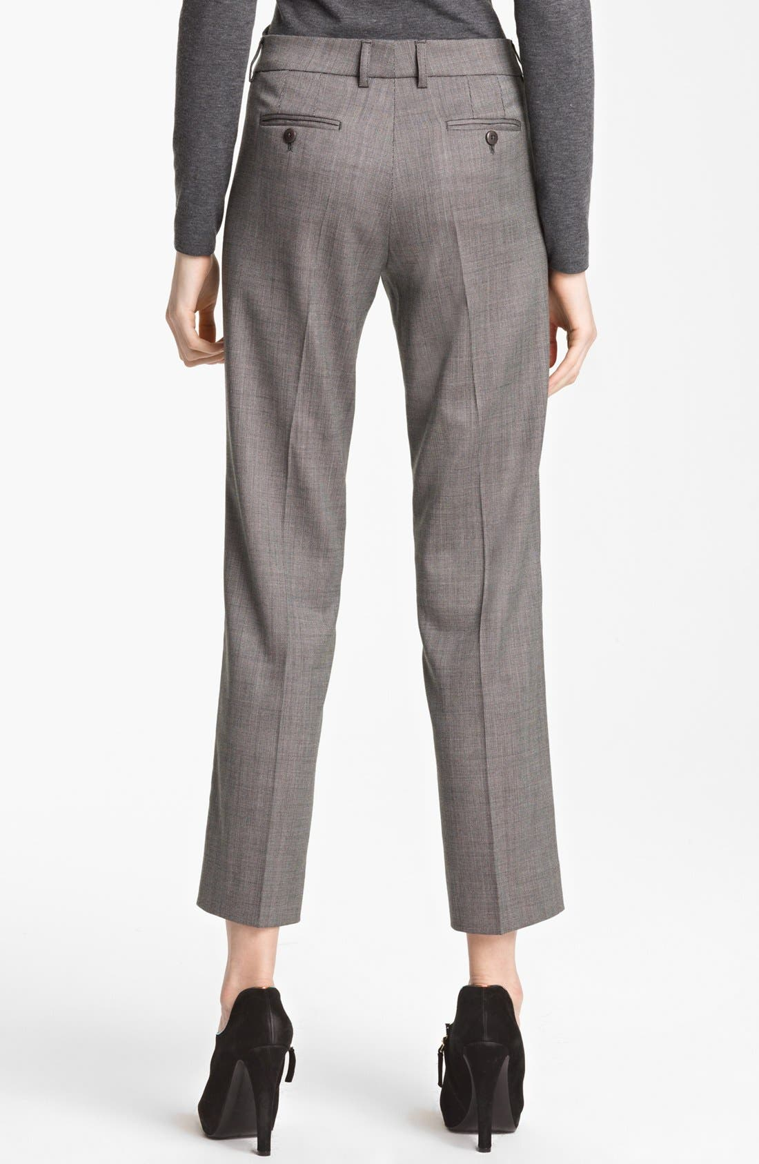Alternate Image 2  - Armani Collezioni Narrow Micro Herringbone Pants