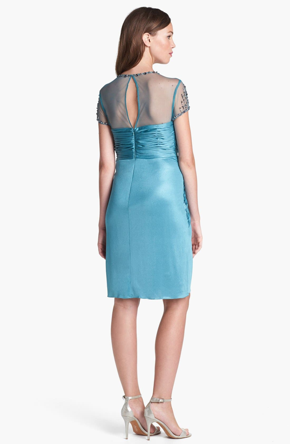 Alternate Image 3  - Adrianna Papell Embellished Front Twist Jersey Sheath Dress