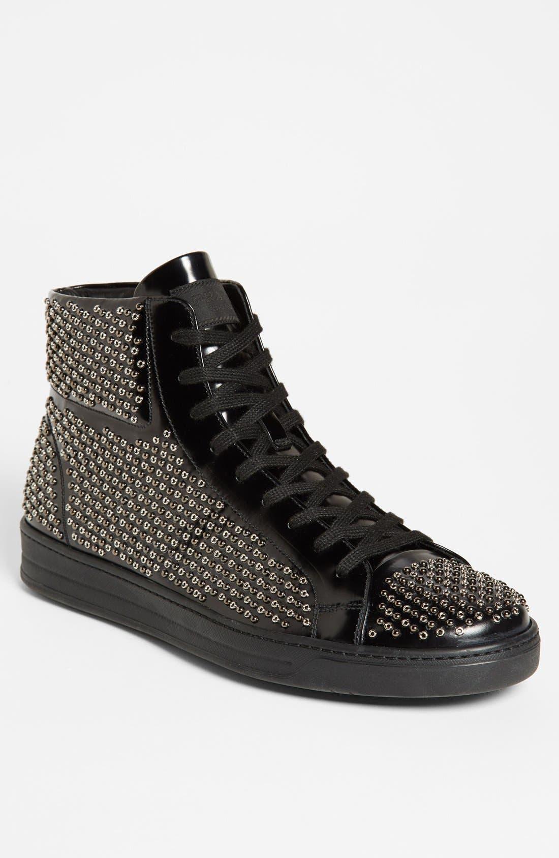 Alternate Image 1 Selected - Prada Studded Sneaker