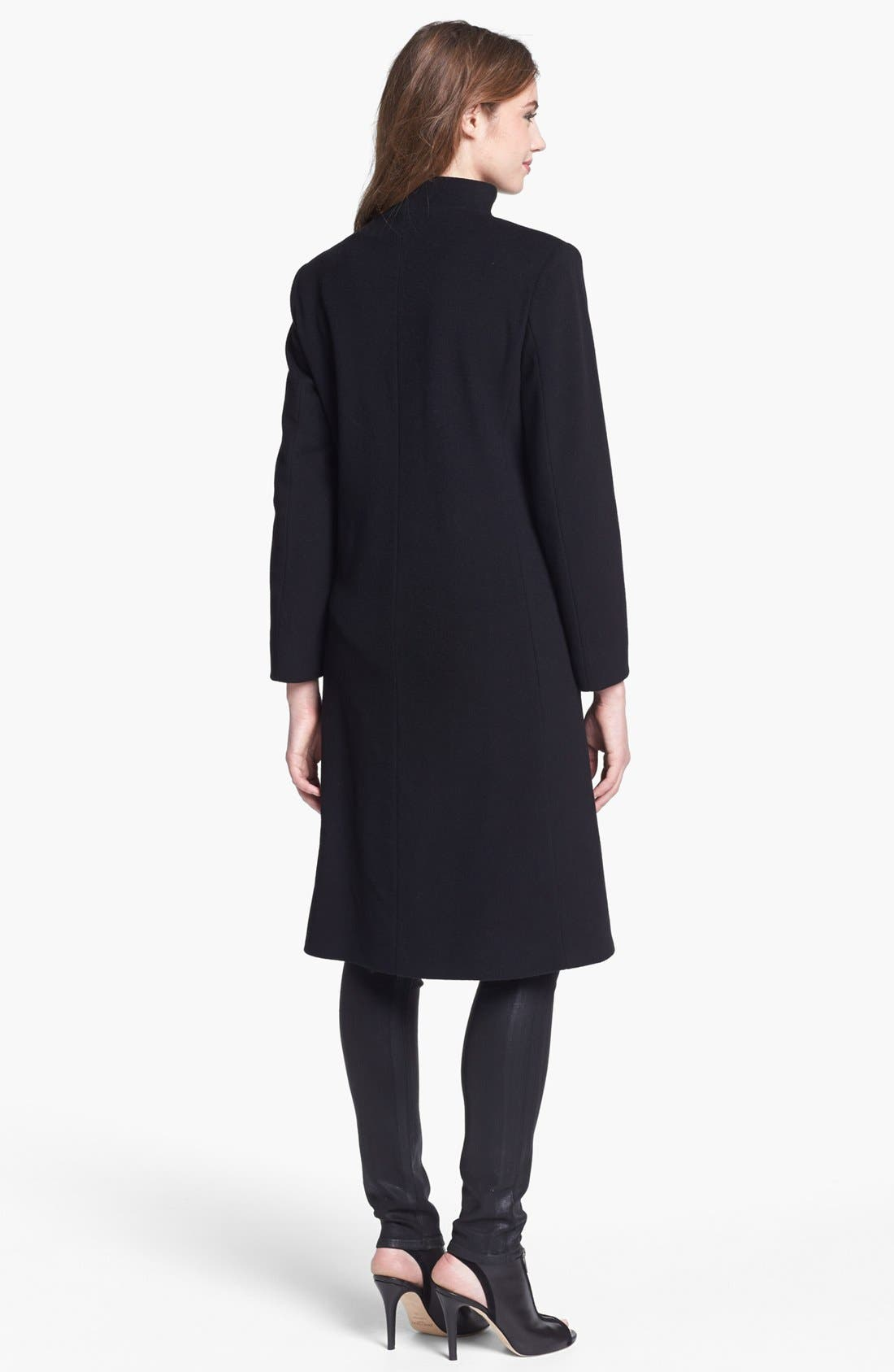 Alternate Image 2  - Cinzia Rocca Due Funnel Neck Wool & Cashmere Blend Walking Coat (Petite)
