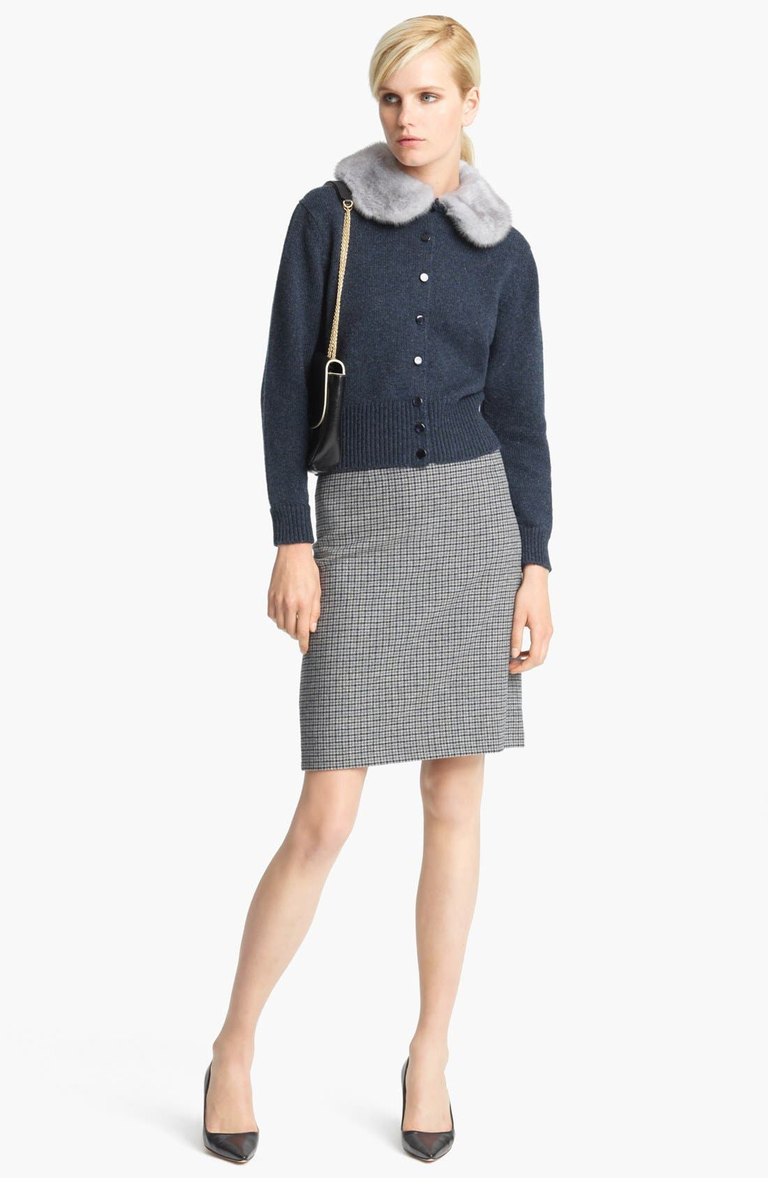 Alternate Image 4  - MARC JACOBS Wool Houndstooth Pencil Skirt