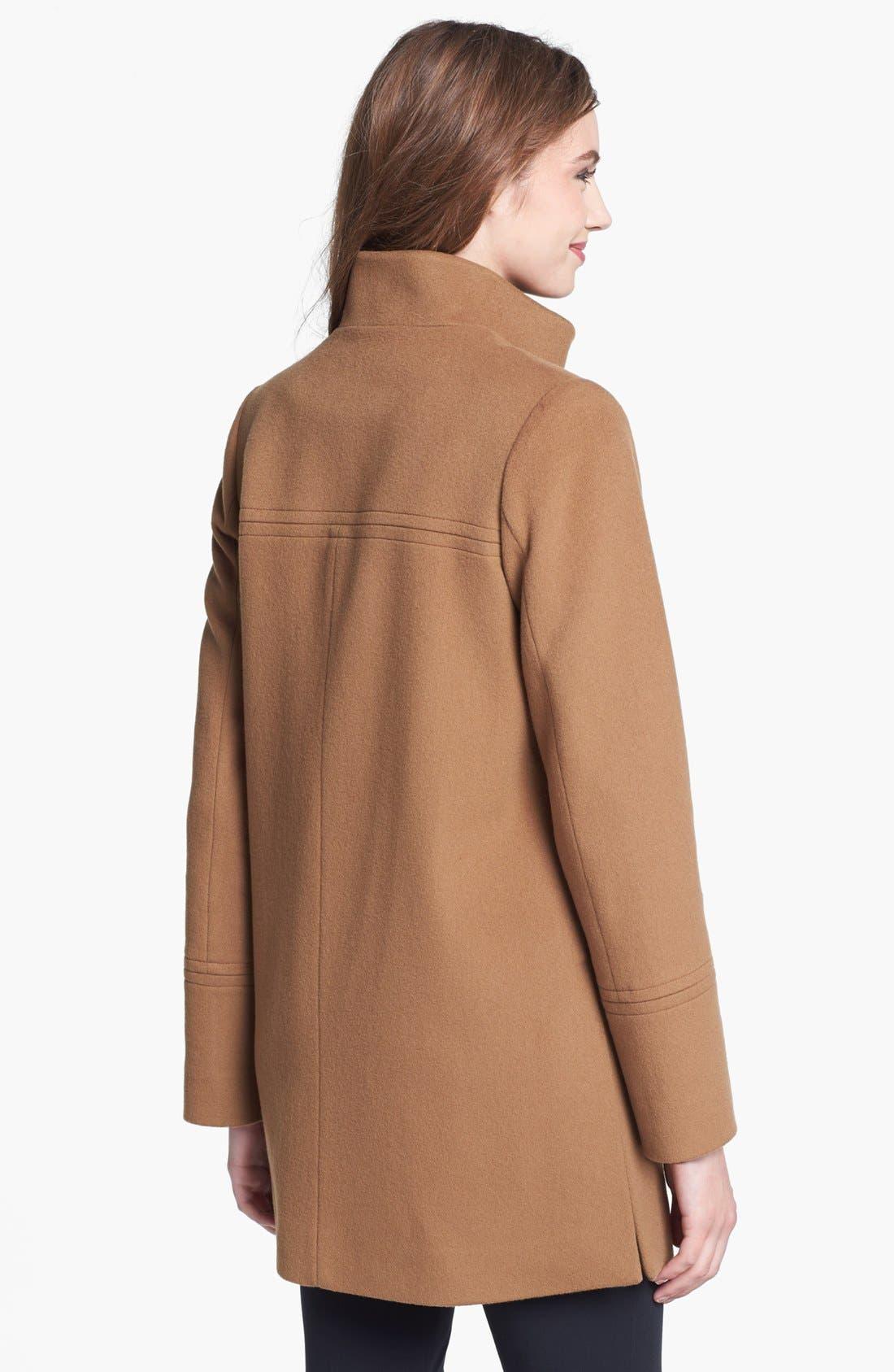Alternate Image 2  - Fleurette Stand Collar Wool Coat