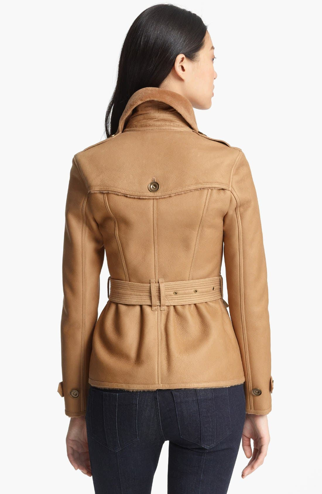 Alternate Image 2  - Burberry Brit 'Chedleigh' Genuine Shearling Coat