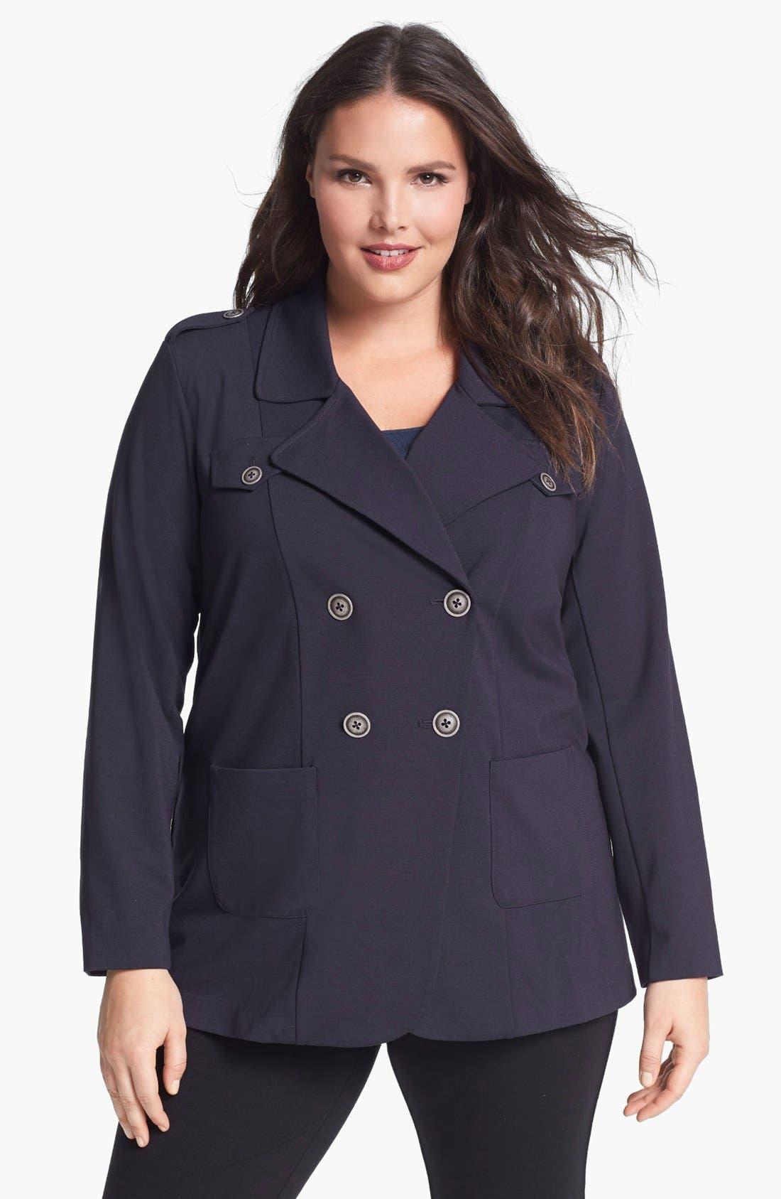 Alternate Image 1 Selected - NIC+ZOE Riding Jacket (Plus Size)