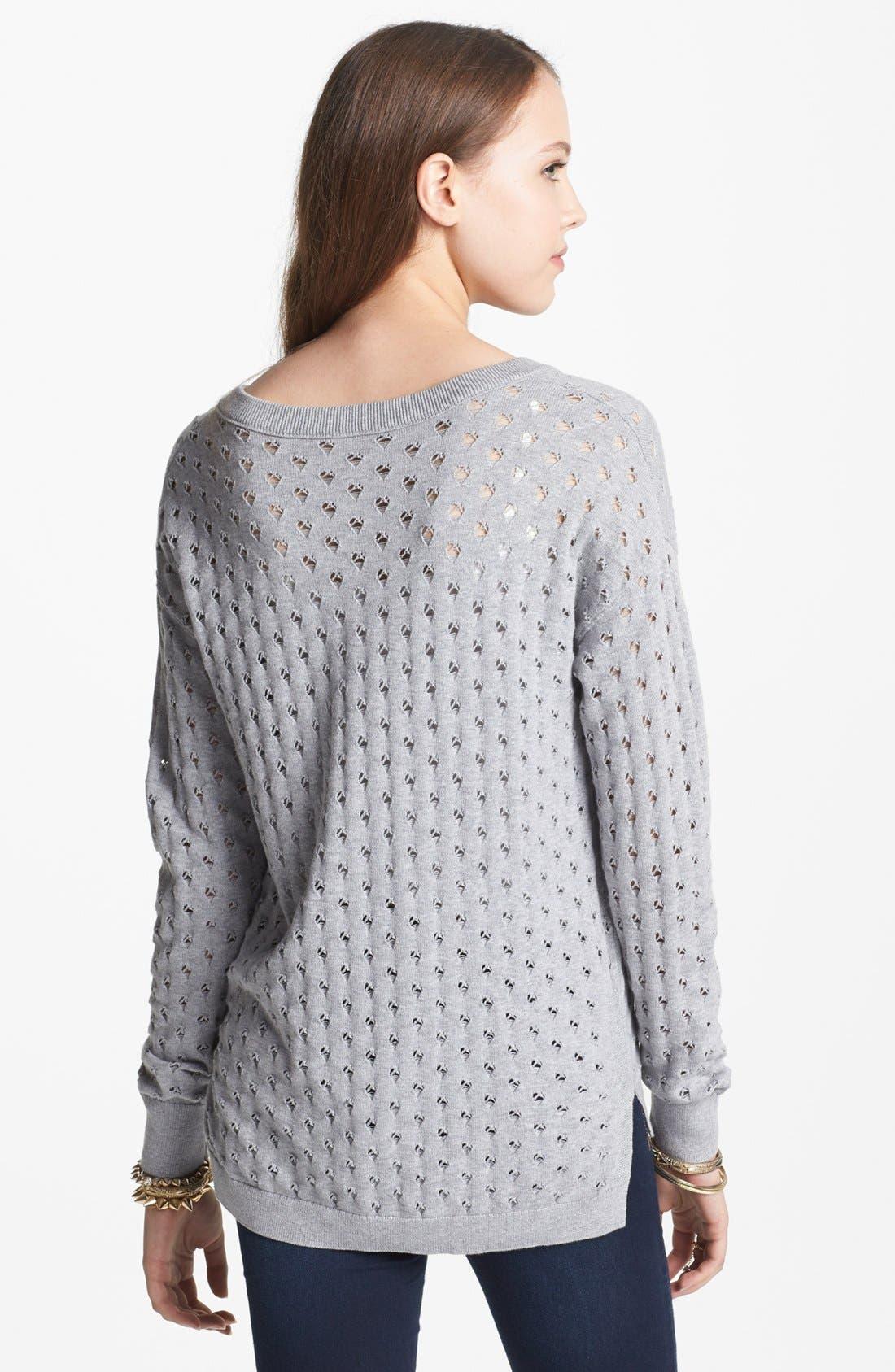 Alternate Image 2  - BP. Pointelle V-Neck Sweater (Juniors)