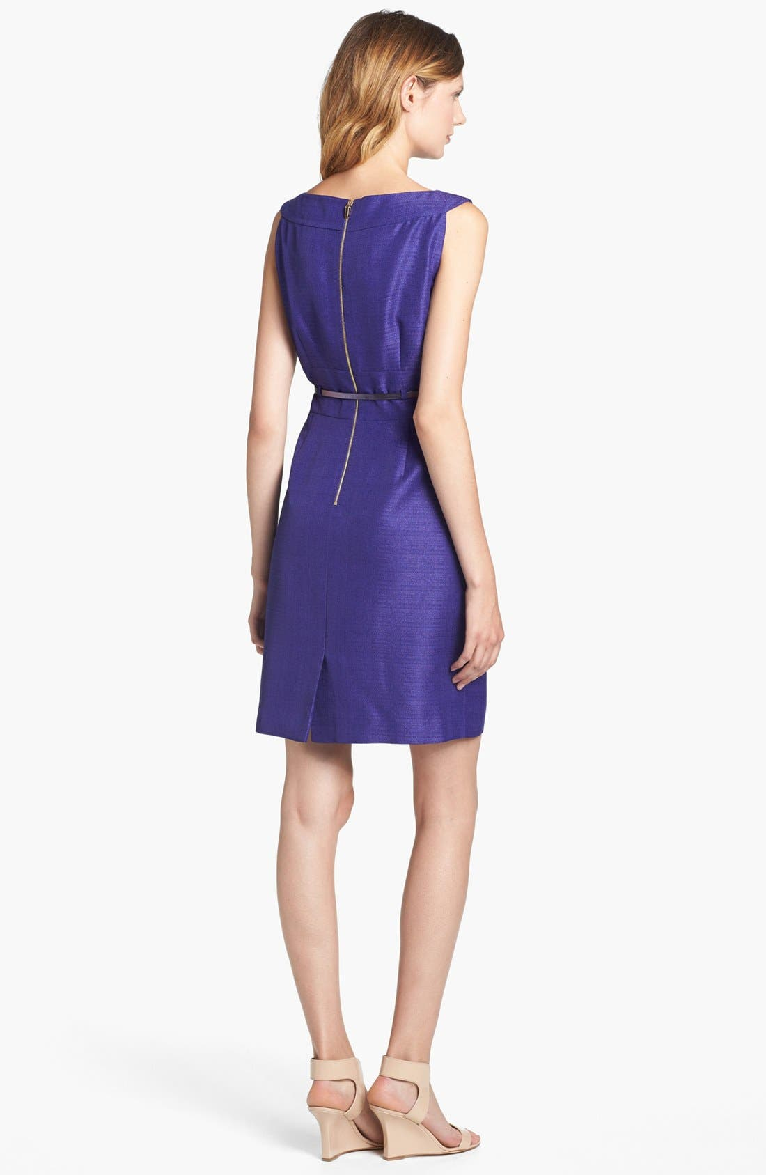 Alternate Image 2  - Tahari Metallic Jacquard Sheath Dress