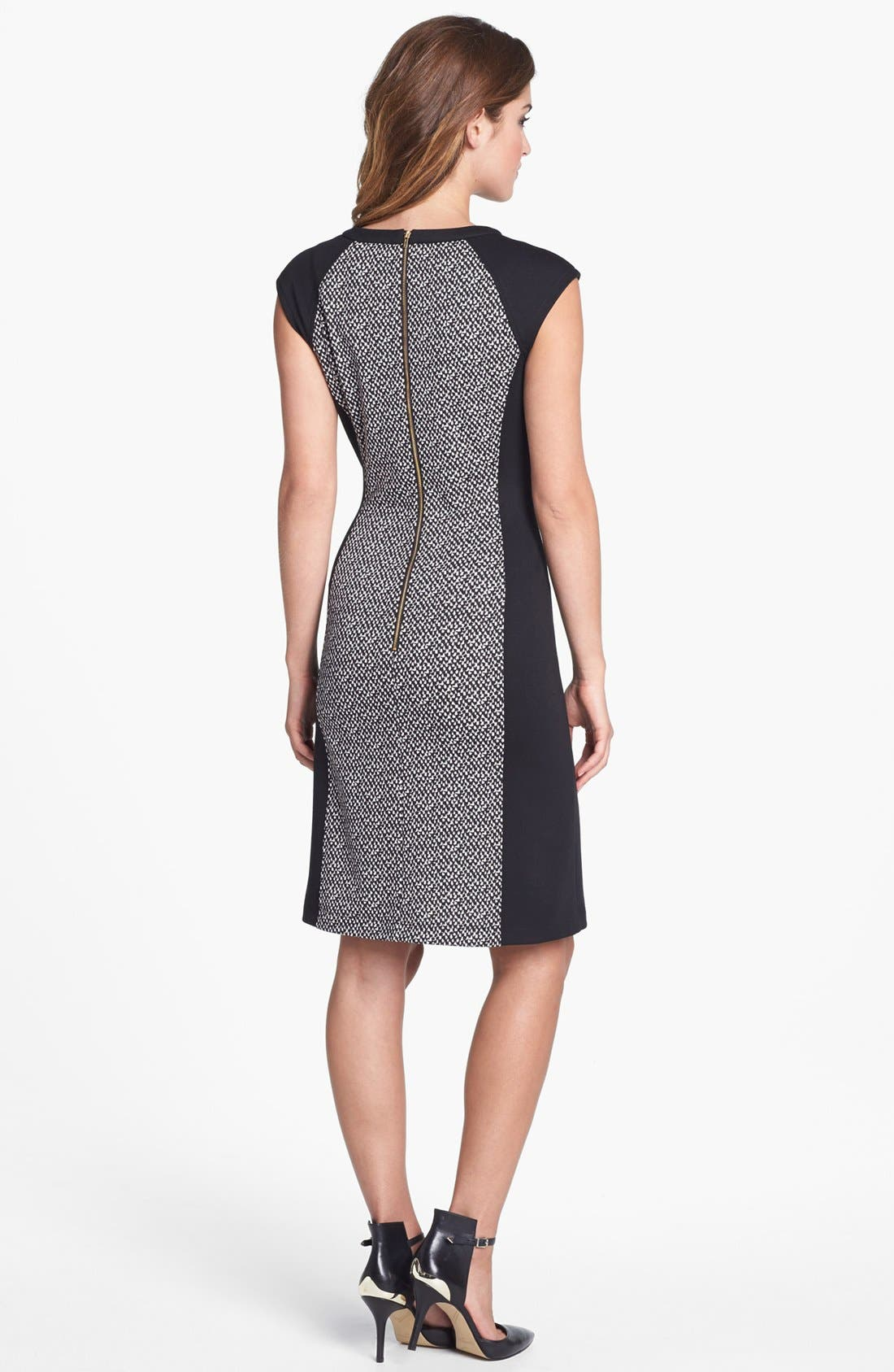 Alternate Image 2  - Calvin Klein Colorblock Print Ponte Knit Dress (Online Only)