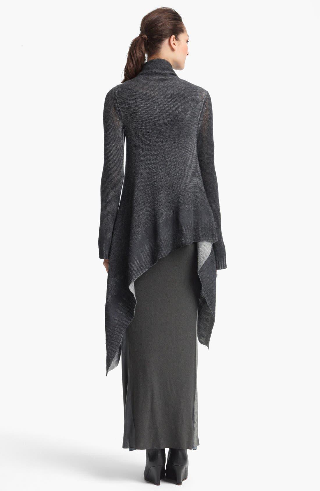 Alternate Image 2  - Donna Karan Collection Shawl Collar Cashmere Cozy
