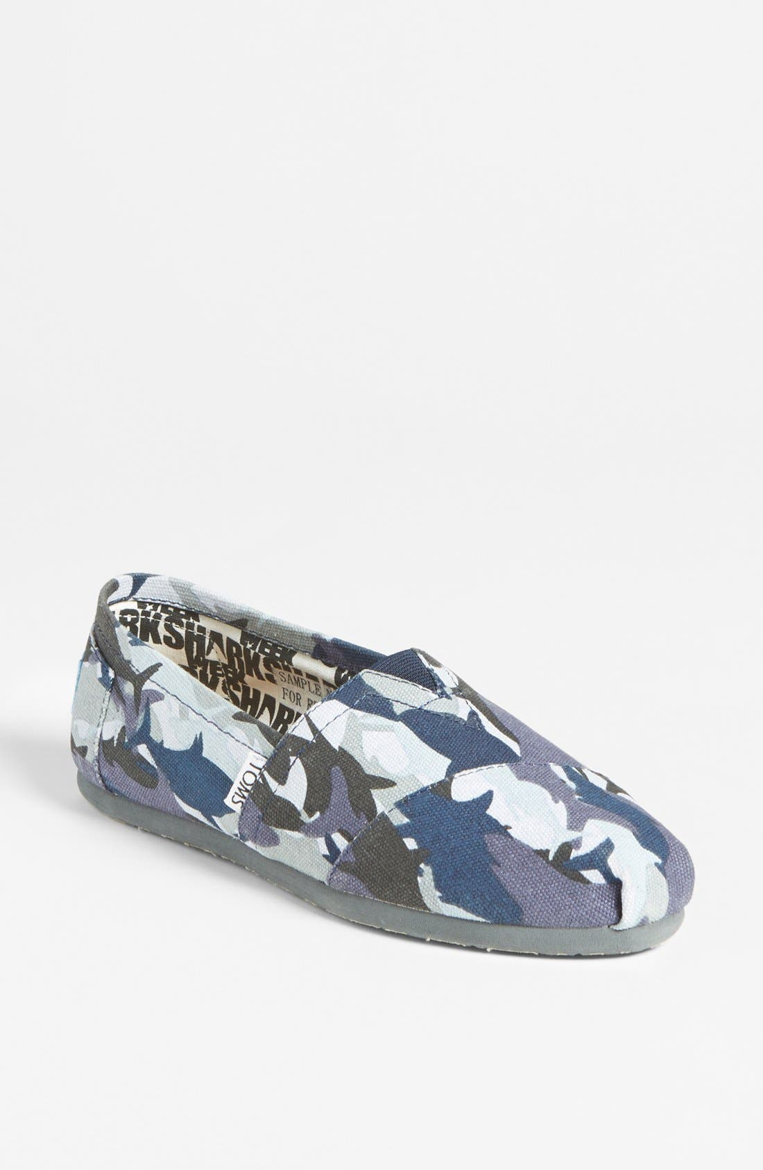 Alternate Image 1 Selected - TOMS 'Classic - Shark Week' Slip-On (Women) (Limited Edition)