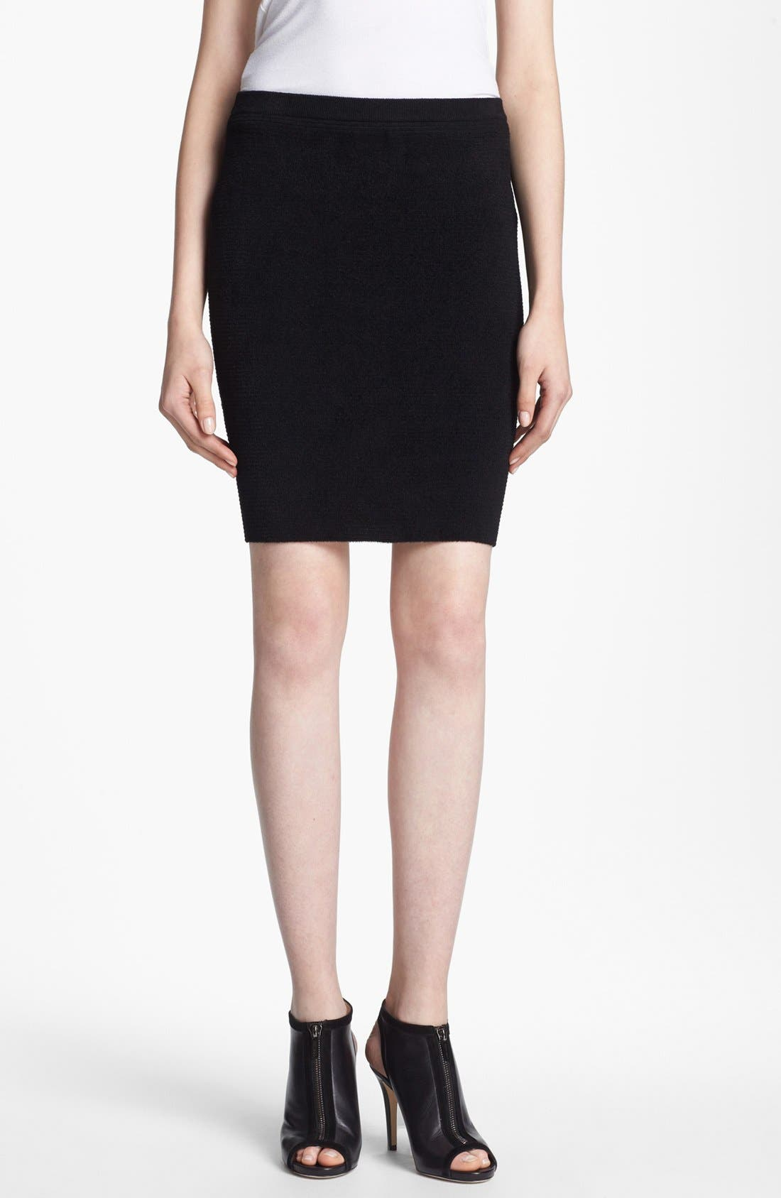 Alternate Image 1 Selected - Alexander Wang Fuzzy Stripe Pencil Skirt