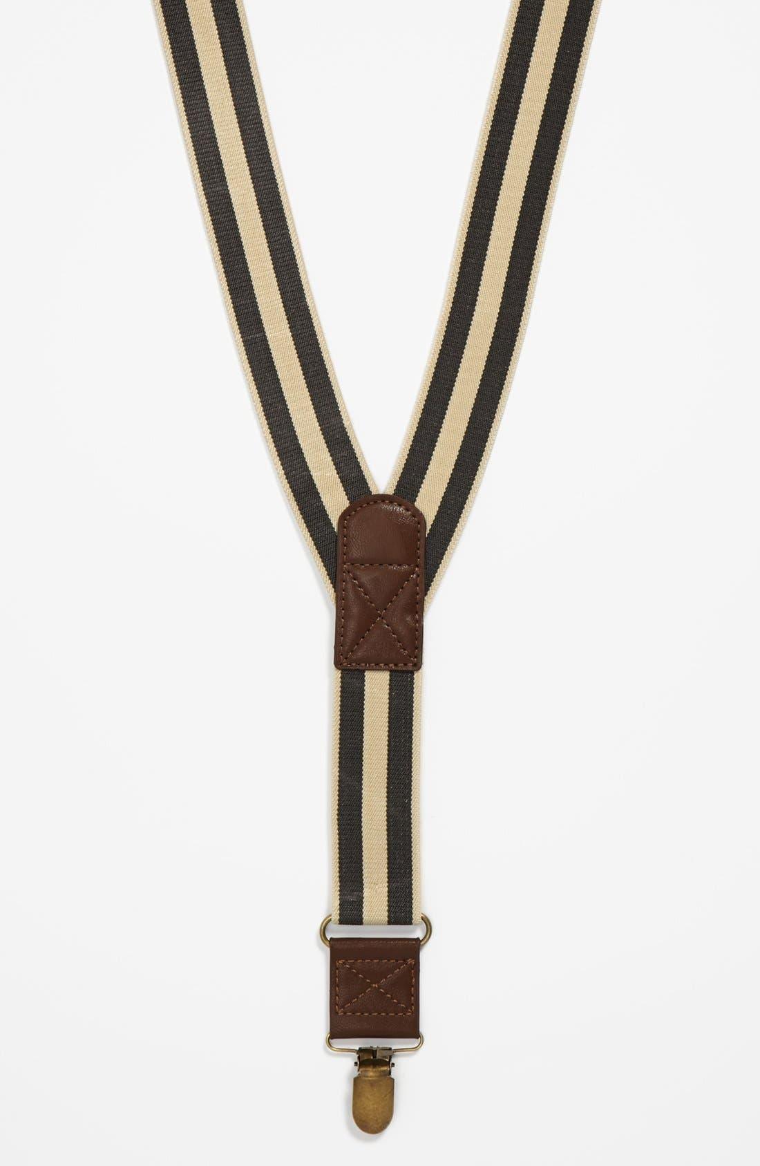 Alternate Image 1 Selected - Topman Stripe Suspenders