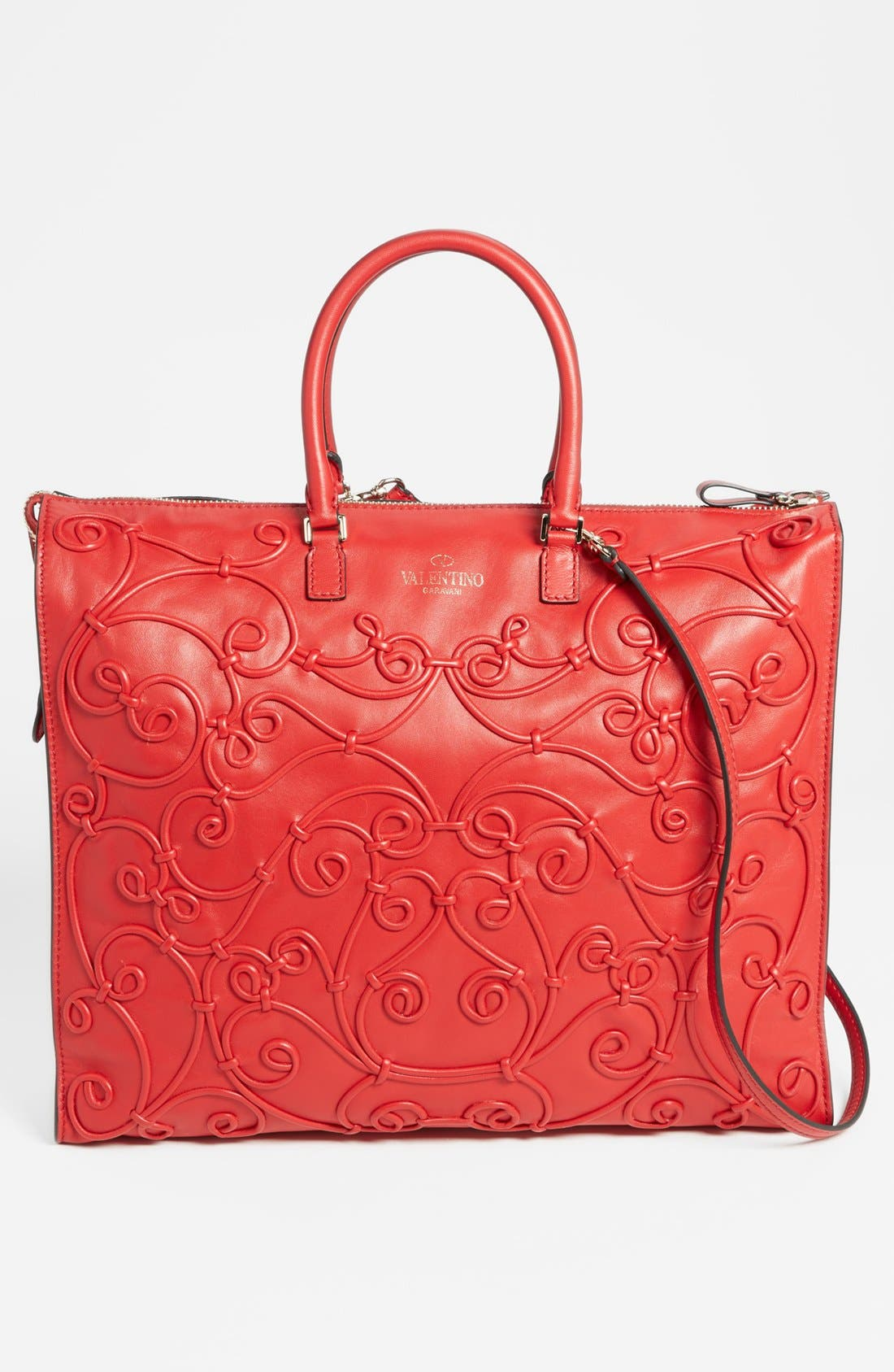 Alternate Image 4  - Valentino 'Intrigate' Double Handle Leather Tote