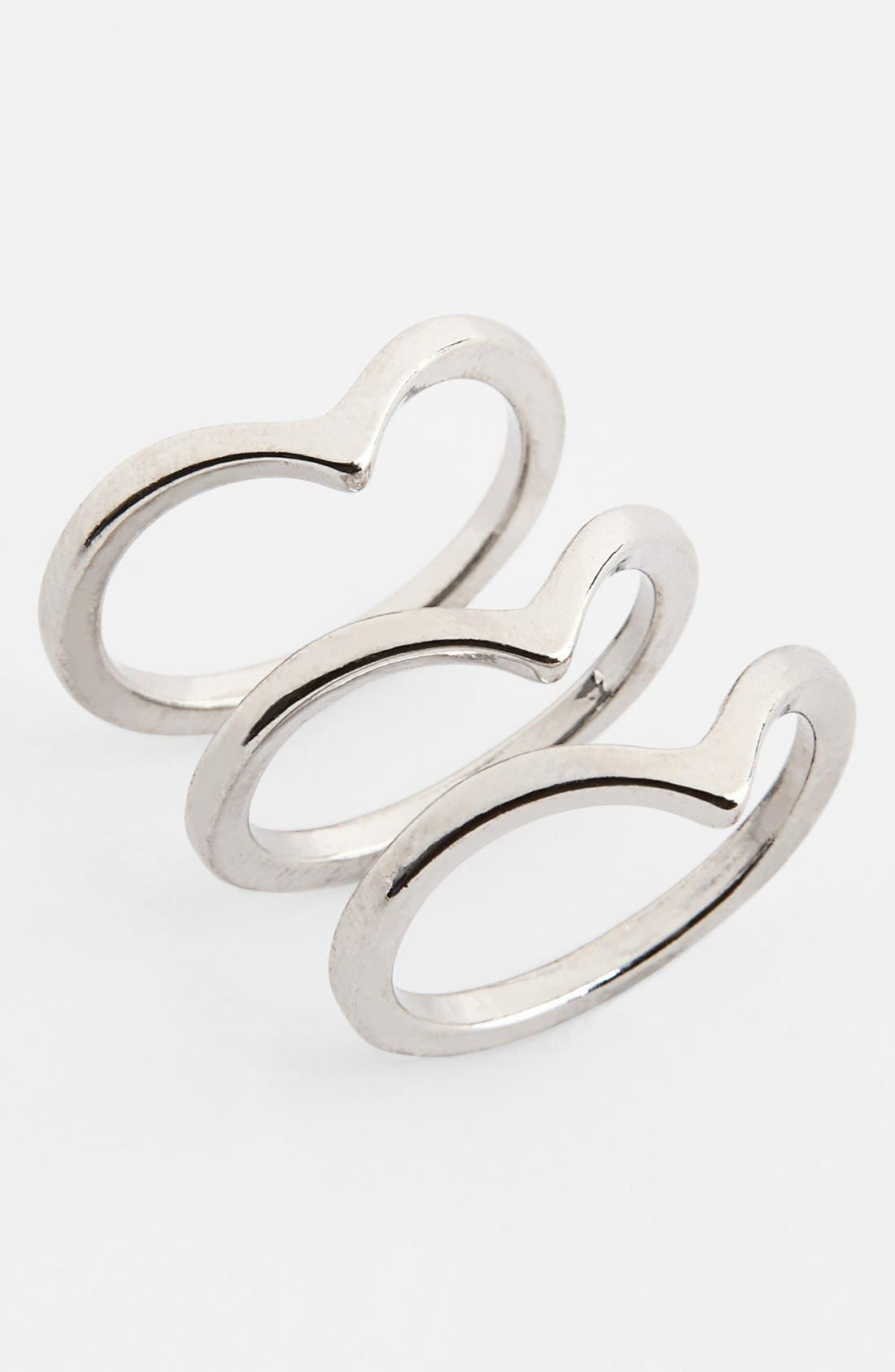 Alternate Image 1 Selected - BP. Chevron Rings (Set of 3) (Juniors)