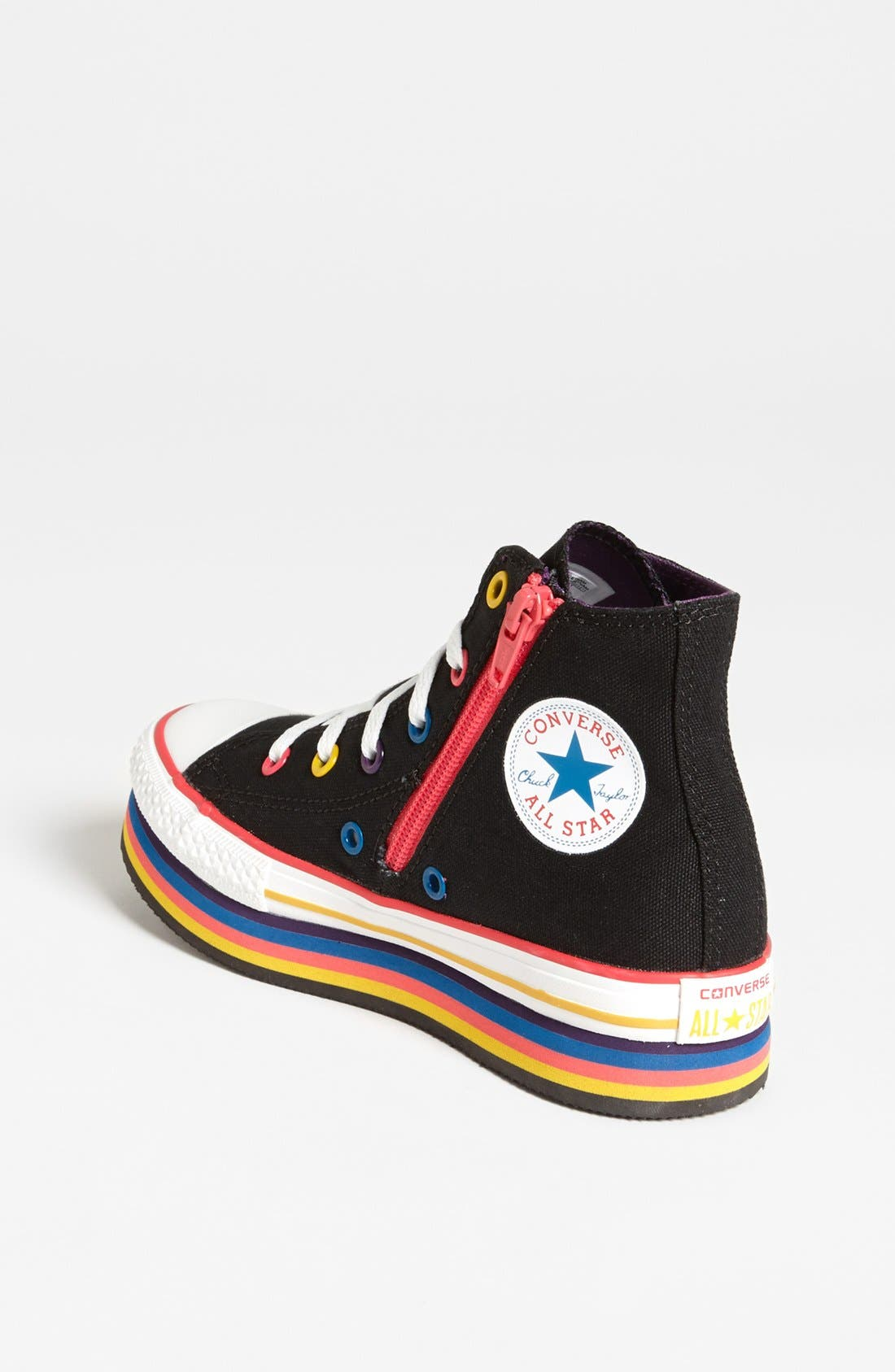 Alternate Image 2  - Converse Chuck Taylor® All Star® Platform Sneaker (Toddler, Little Kid & Big Kid)