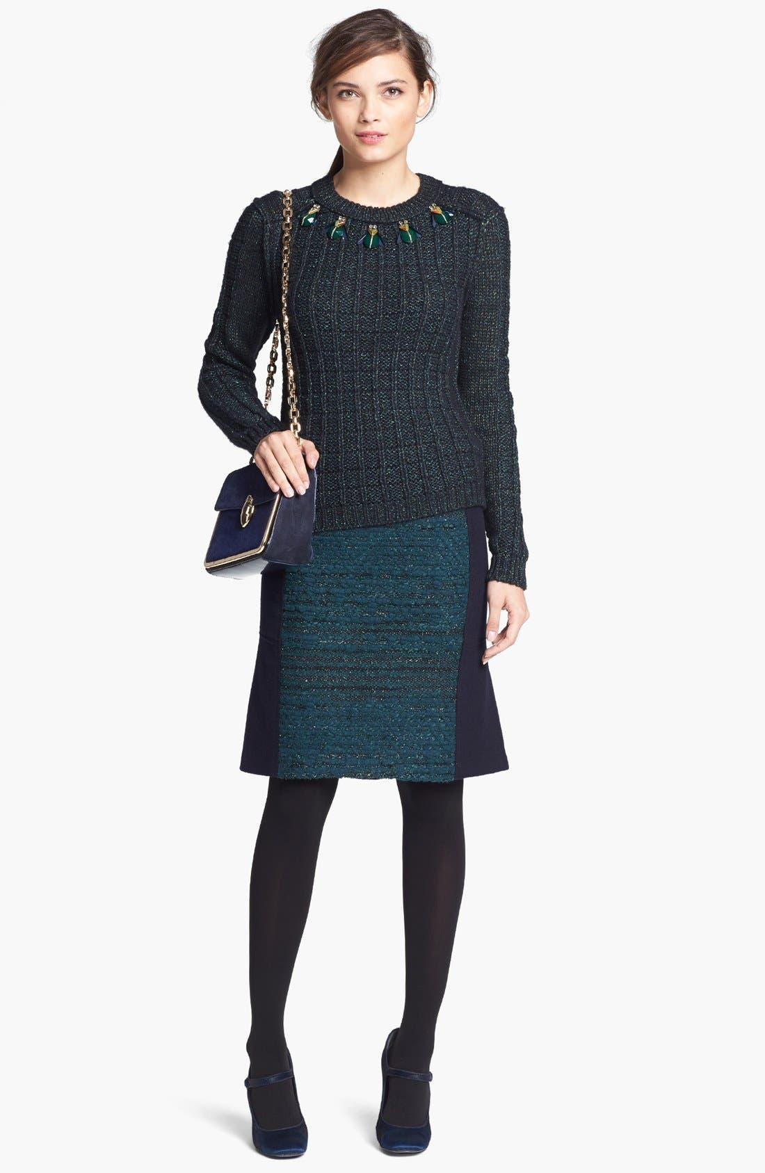 Alternate Image 4  - Tory Burch 'Lucy' Embellished Sweater